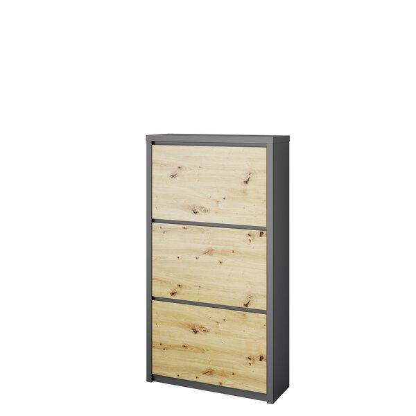 Schuhschrank HMW Möbel  Holzwerkstoff Lack anthrazit matt ca. 25 cm x 129 cm x 70 cm