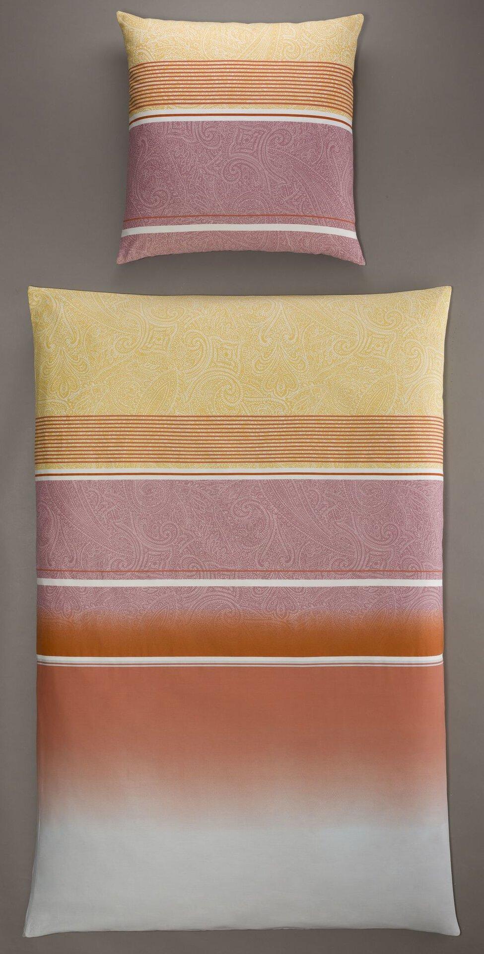 Satin-Bettwäsche Streifen Casa Nova Textil mehrfarbig 135 x 200 cm