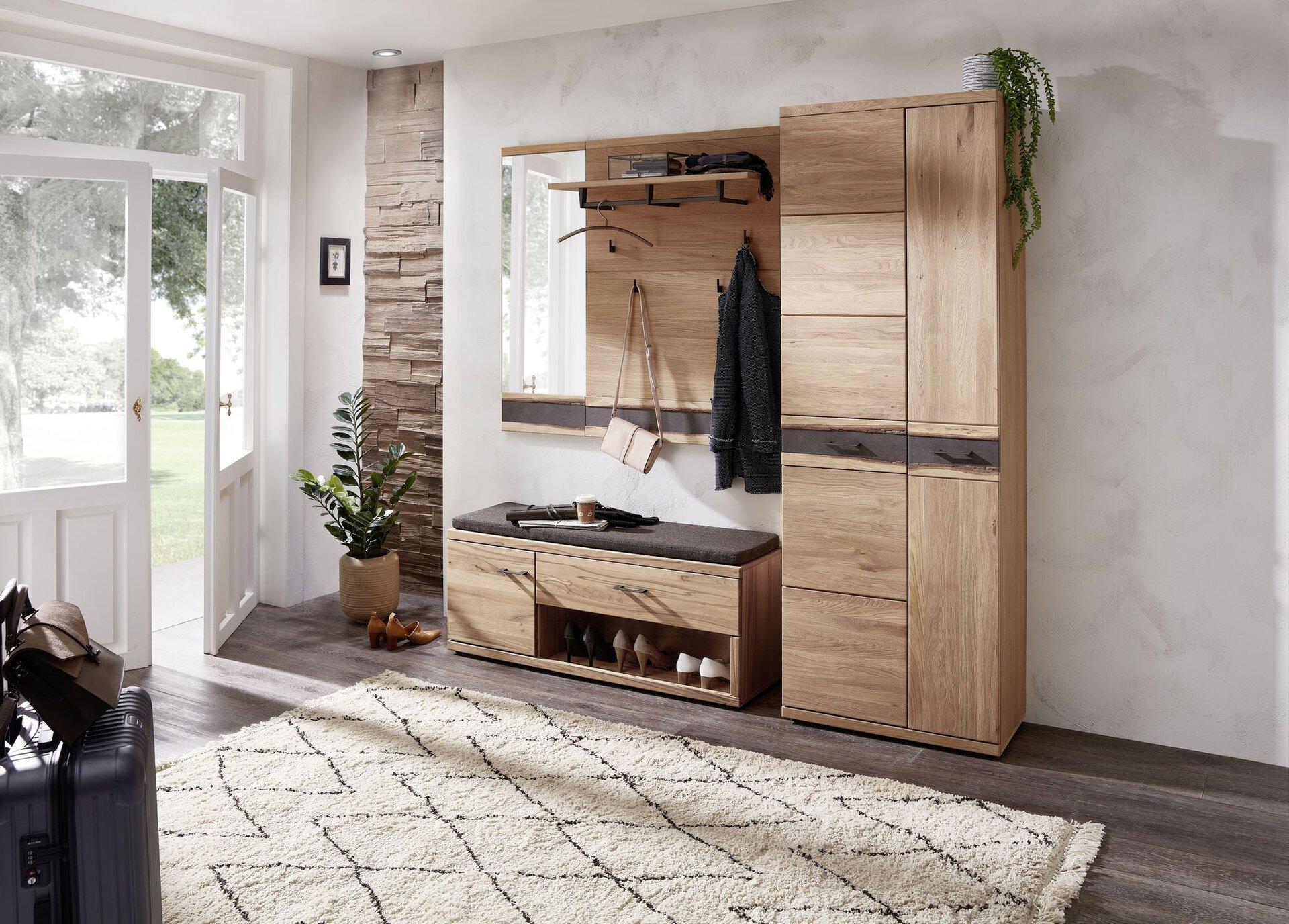Garderobenpaneel Crusty Wohn-Concept Holz braun 28 x 116 x 84 cm
