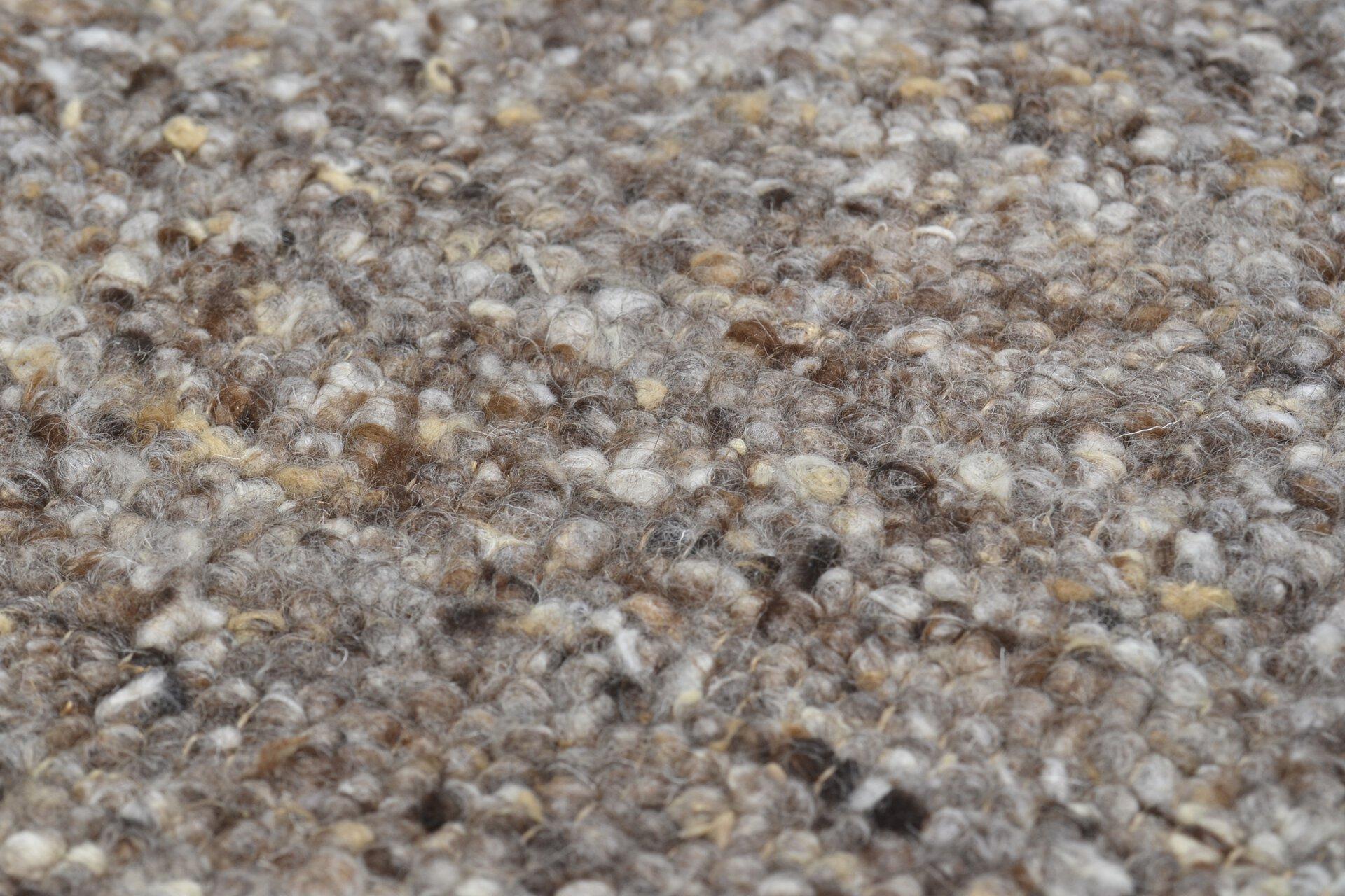 Handwebteppich Woll-Lust Theko Textil braun 1 x 2 cm
