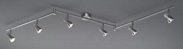 Strahler Casa Nova Metall silber ca. 8 cm x 17 cm x 180 cm