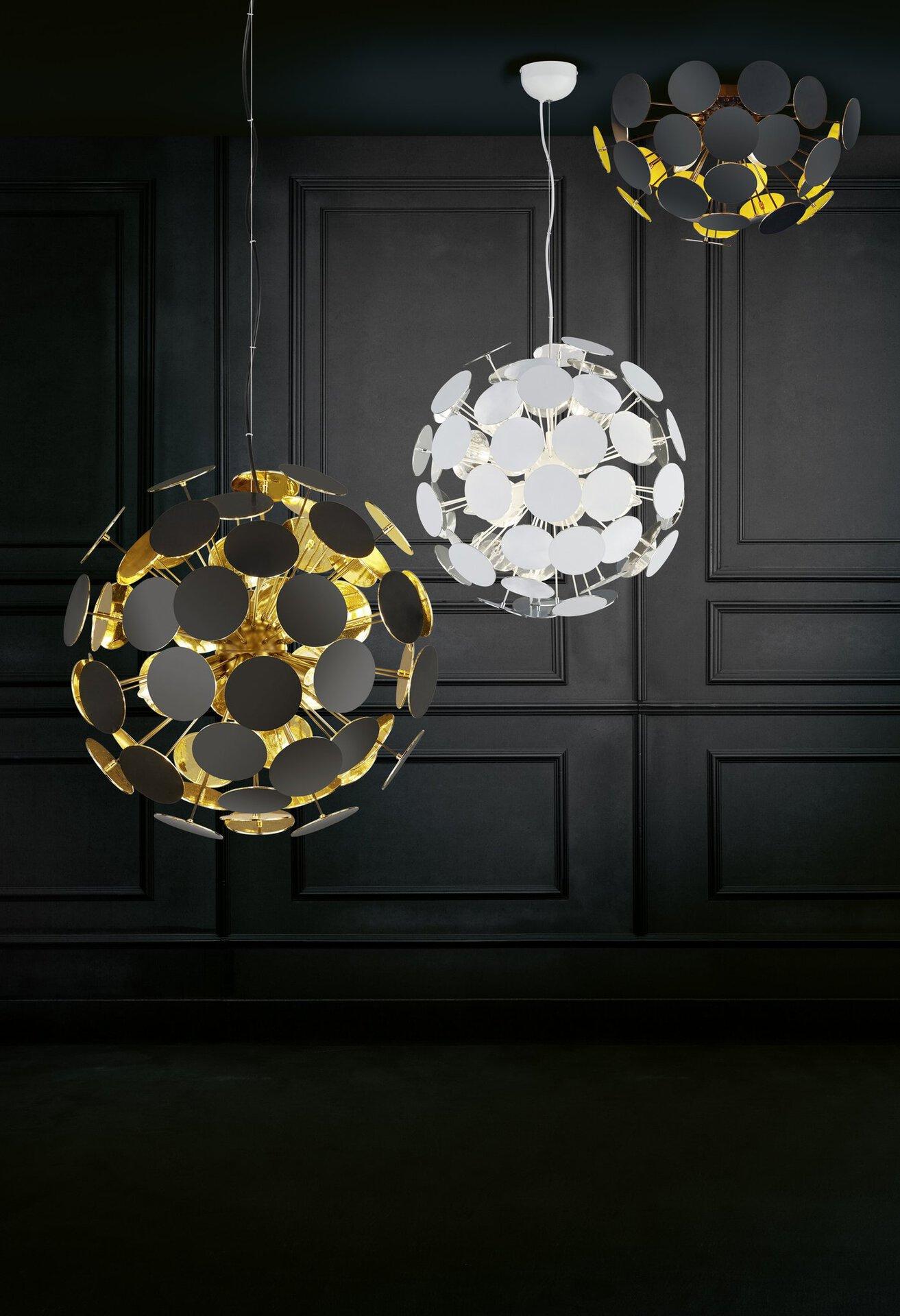 Deckenleuchte Discalgo Trio Leuchten Kunststoff schwarz 54 x 30 x 54 cm