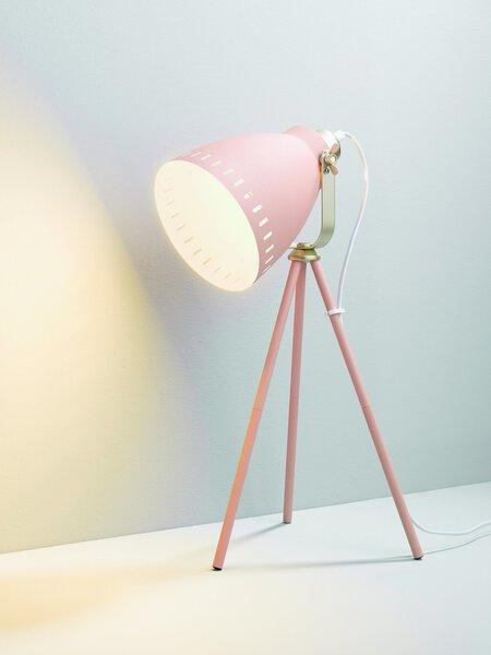 Tischleuchte Casa Nova Metall rosa ca. 30 cm x 51 cm x 30 cm