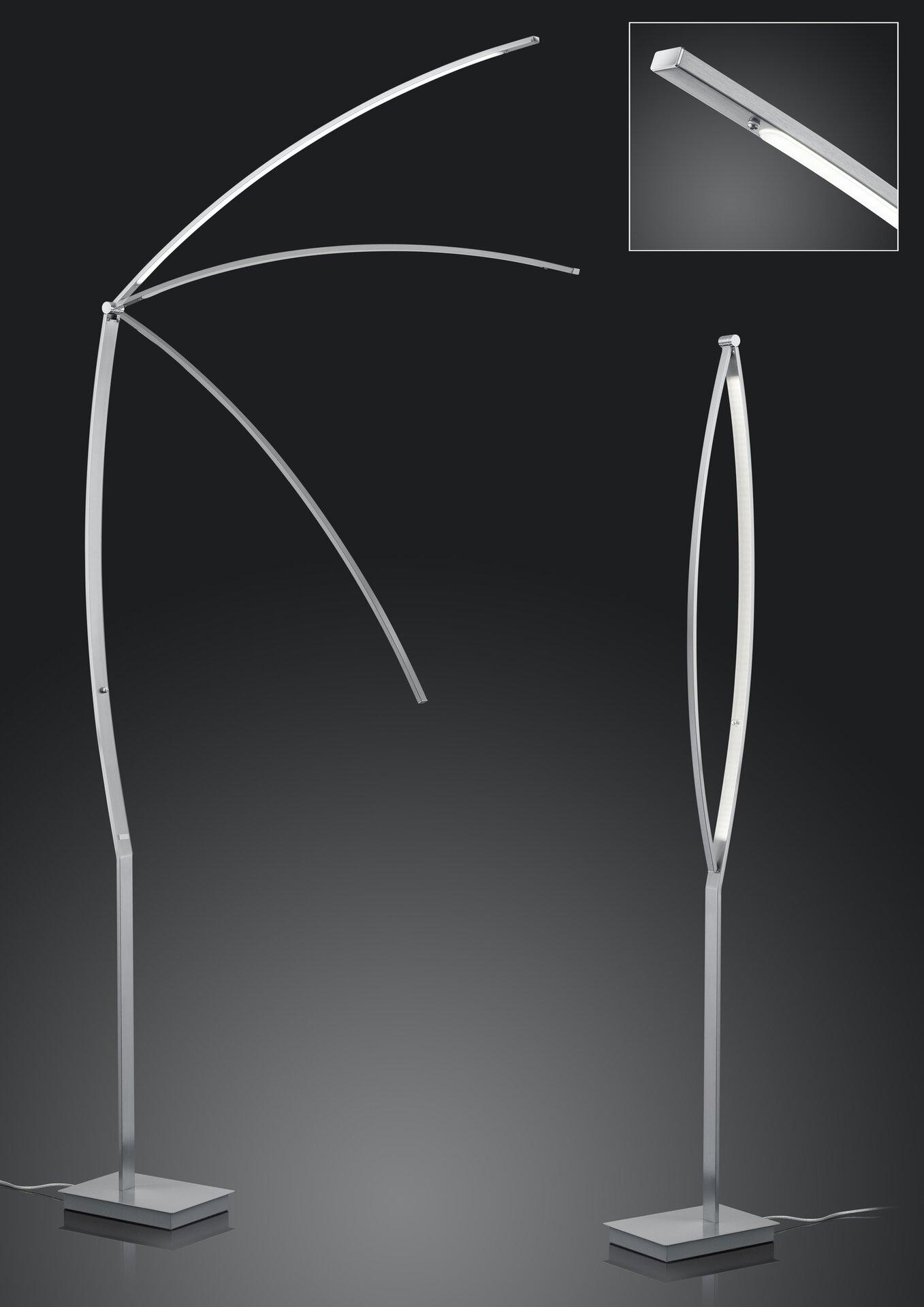 Stehleuchte Tree B-Leuchten Metall silber 20 x 180 x 30 cm