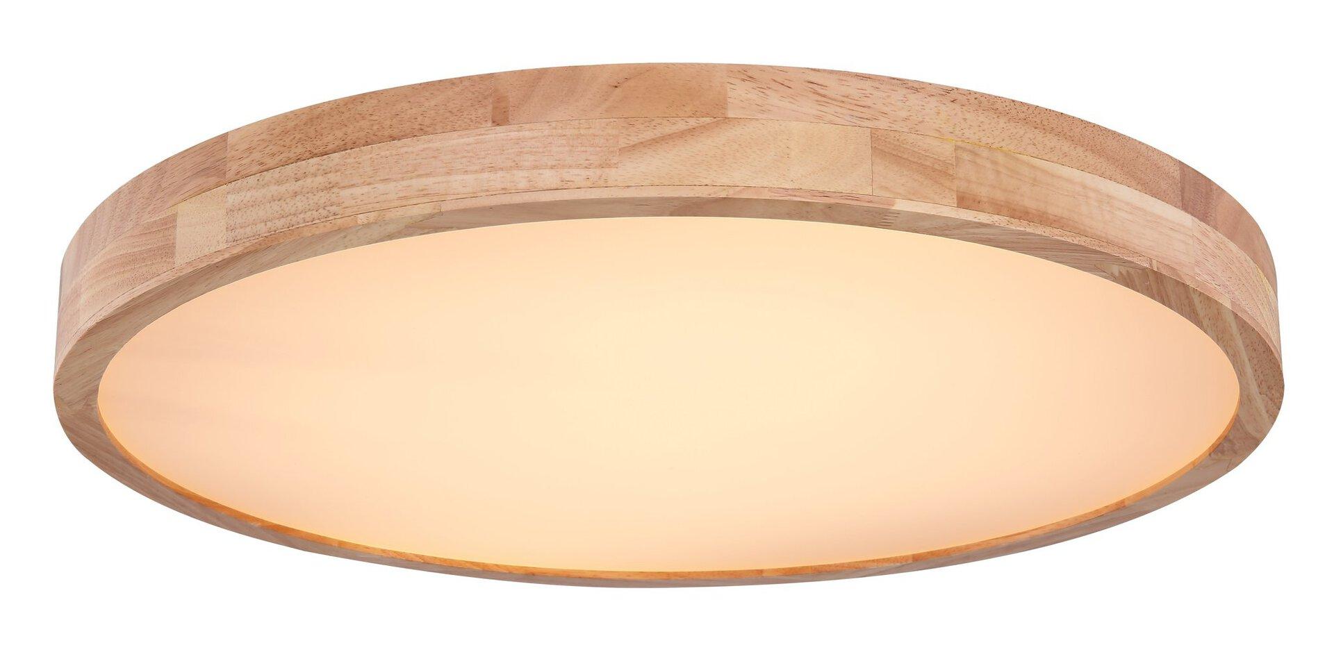 Deckenleuchte RAINER Globo Holz braun 60 x 11 x 60 cm