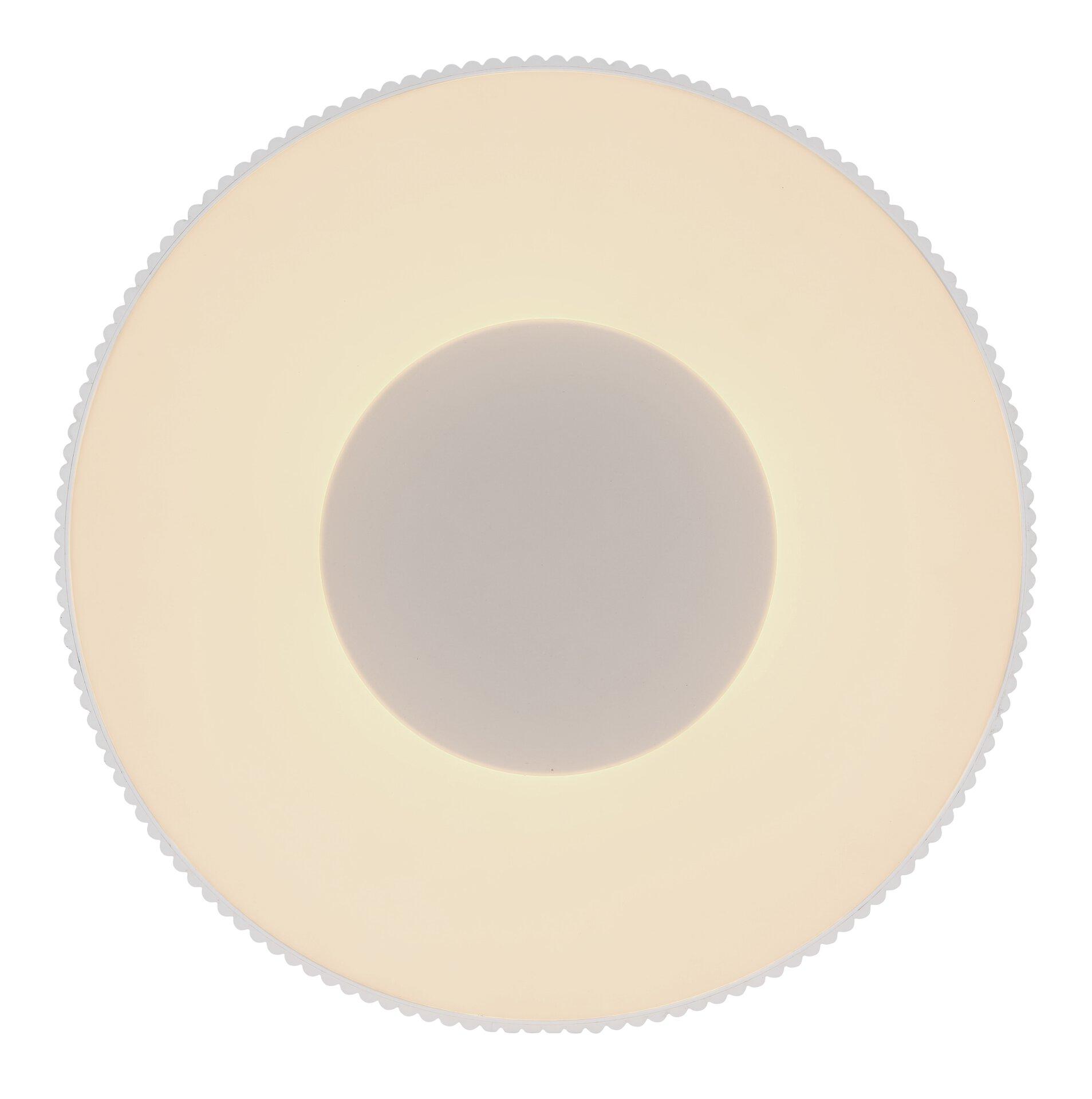 Deckenleuchte CROTONE Globo Metall weiß 46 x 17 x 46 cm