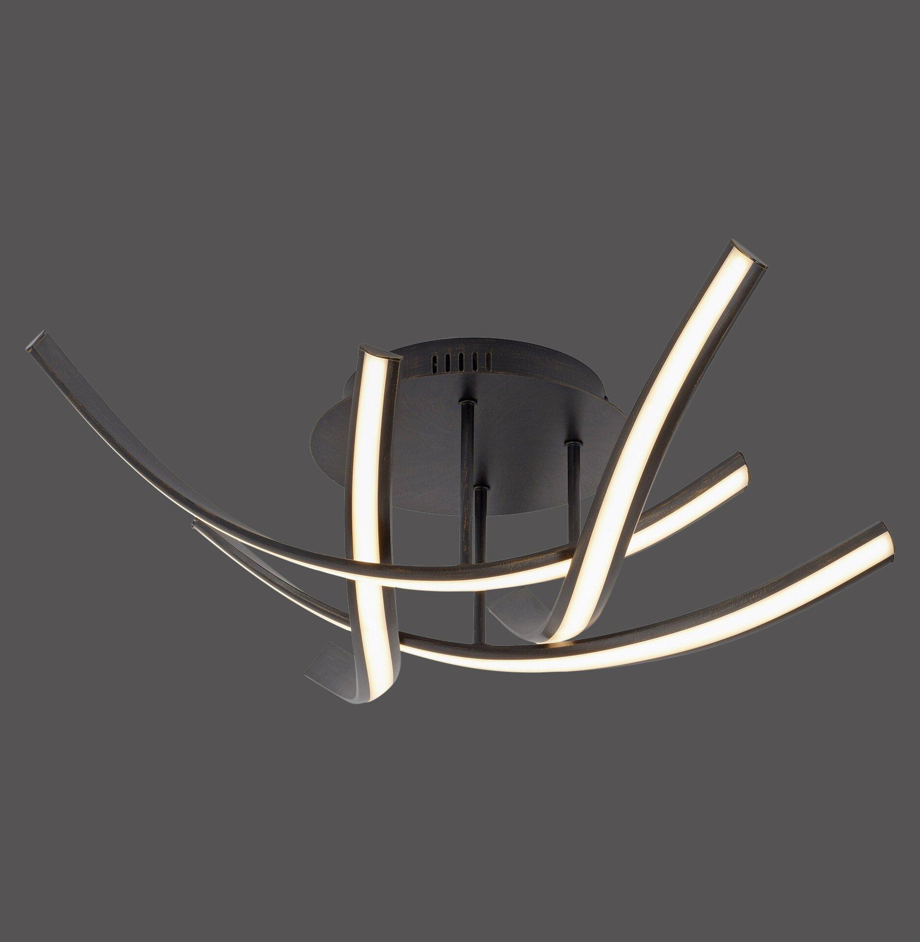 Deckenleuchte LINDA Paul Neuhaus Metall schwarz 73 x 20 x 73 cm