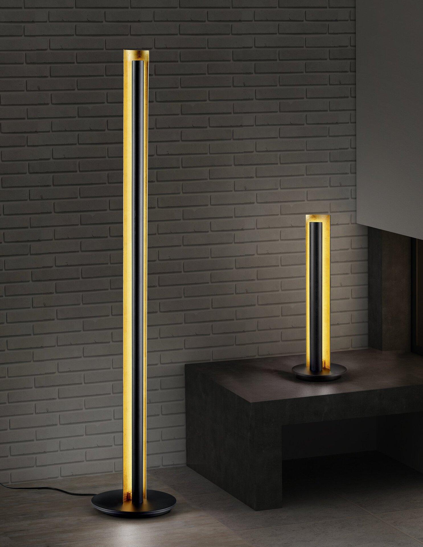 Stehleuchte Texel Trio Leuchten Metall schwarz 25 x 143 x 25 cm