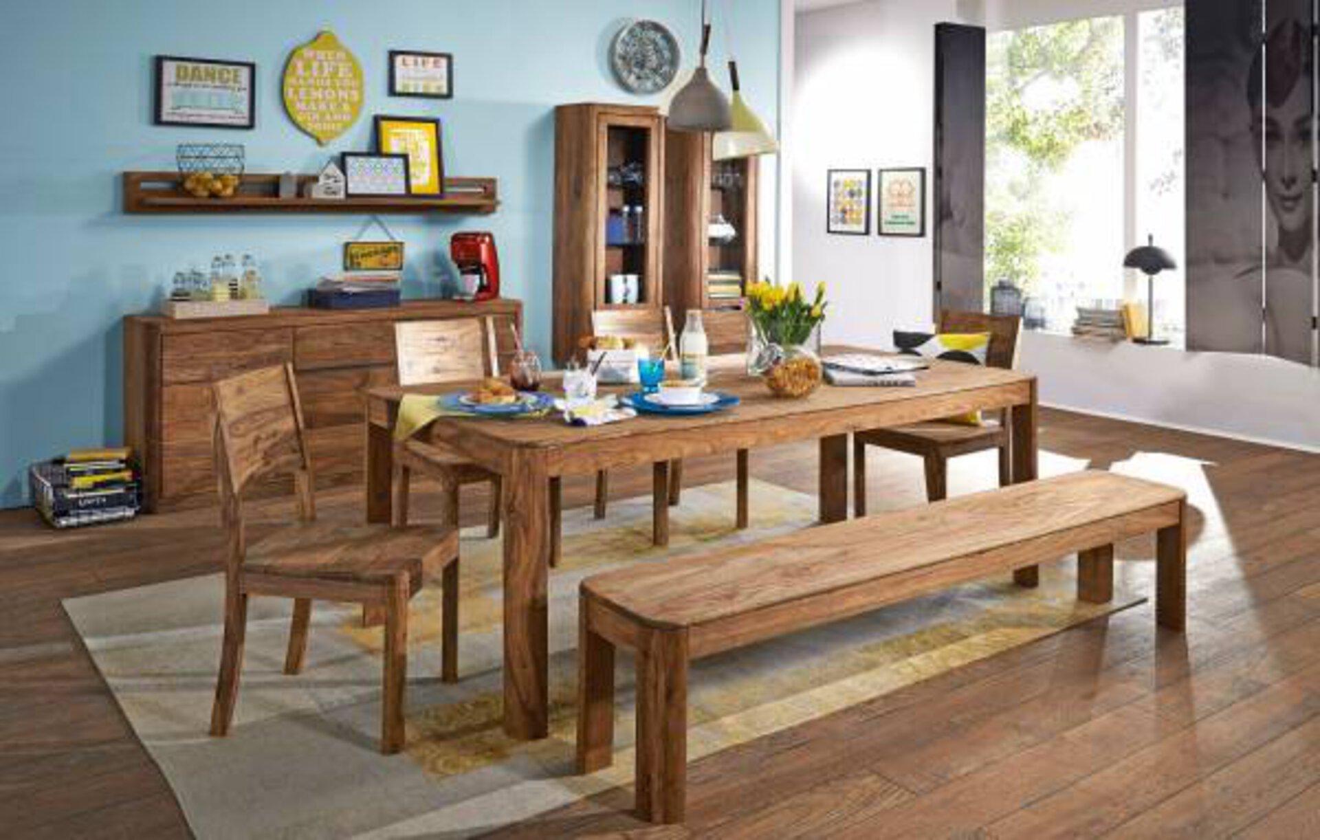 Tisch mit fester Platte WZ-0104 Dinett Holz braun 1 x 1 x 2 cm