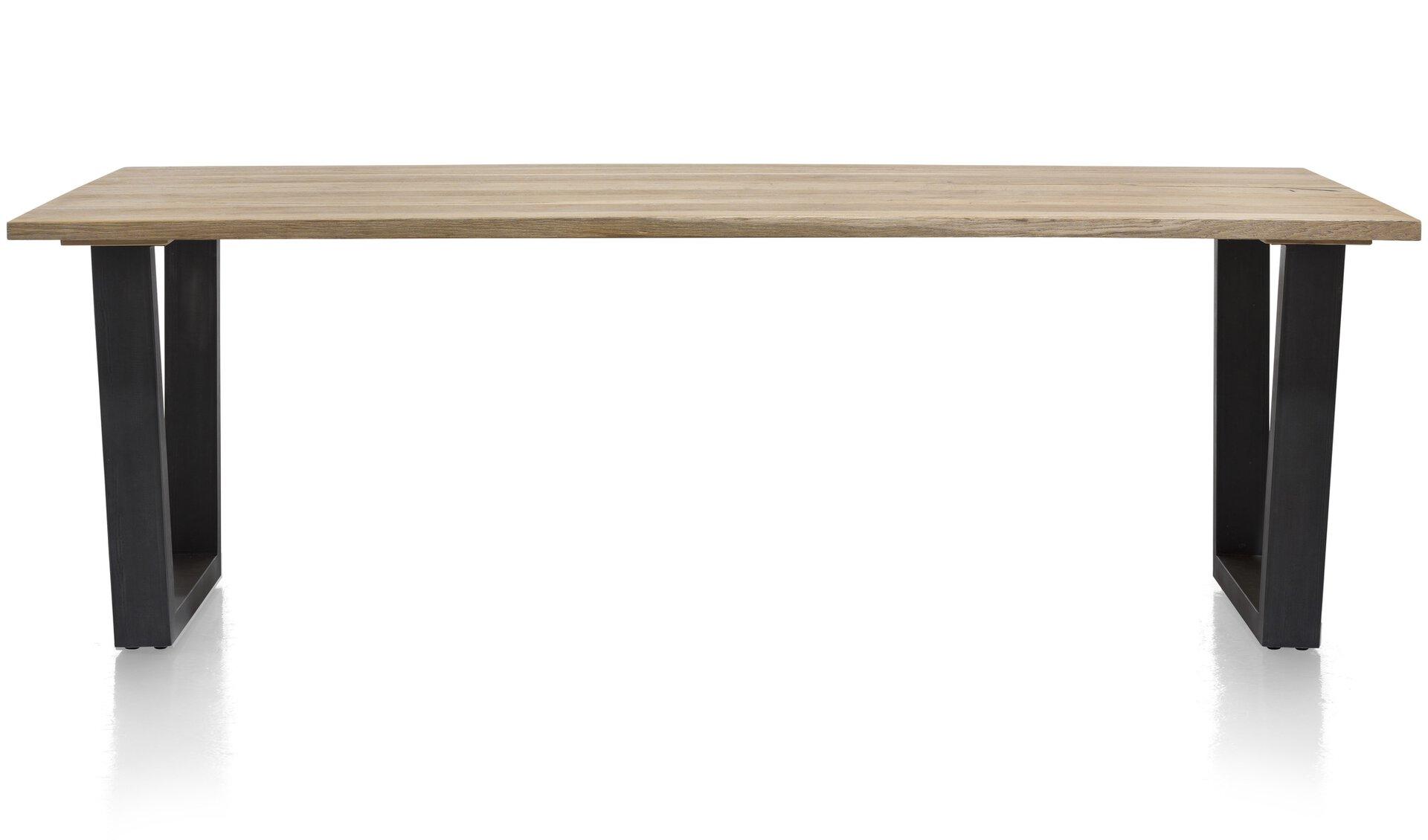 Tisch mit fester Platte SERNO MONDO braun 100 x 77 x 200 cm