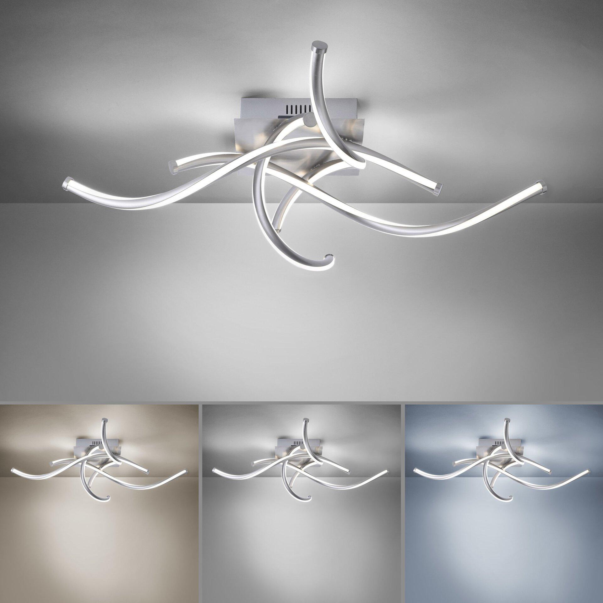 Smart-Home-Leuchten Q-MALINA Paul Neuhaus Metall silber 75 x 16 x 75 cm