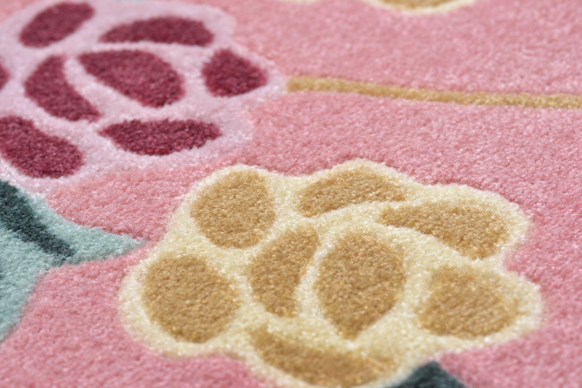 Maschinenwebteppich Versailles Theko Textil rosa