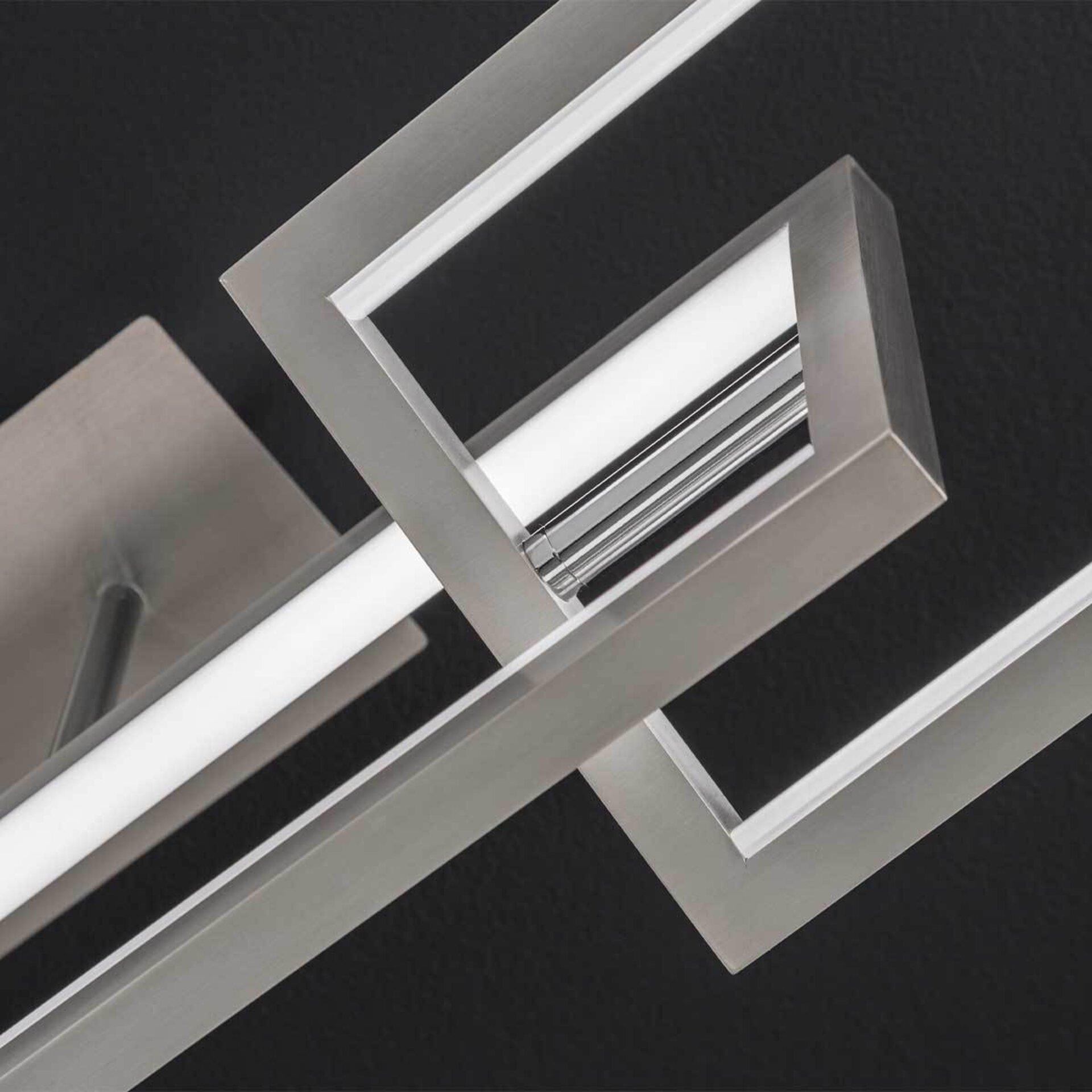 Deckenleuchte Muriel Wofi Leuchten Metall silber 30 x 31 x 100 cm
