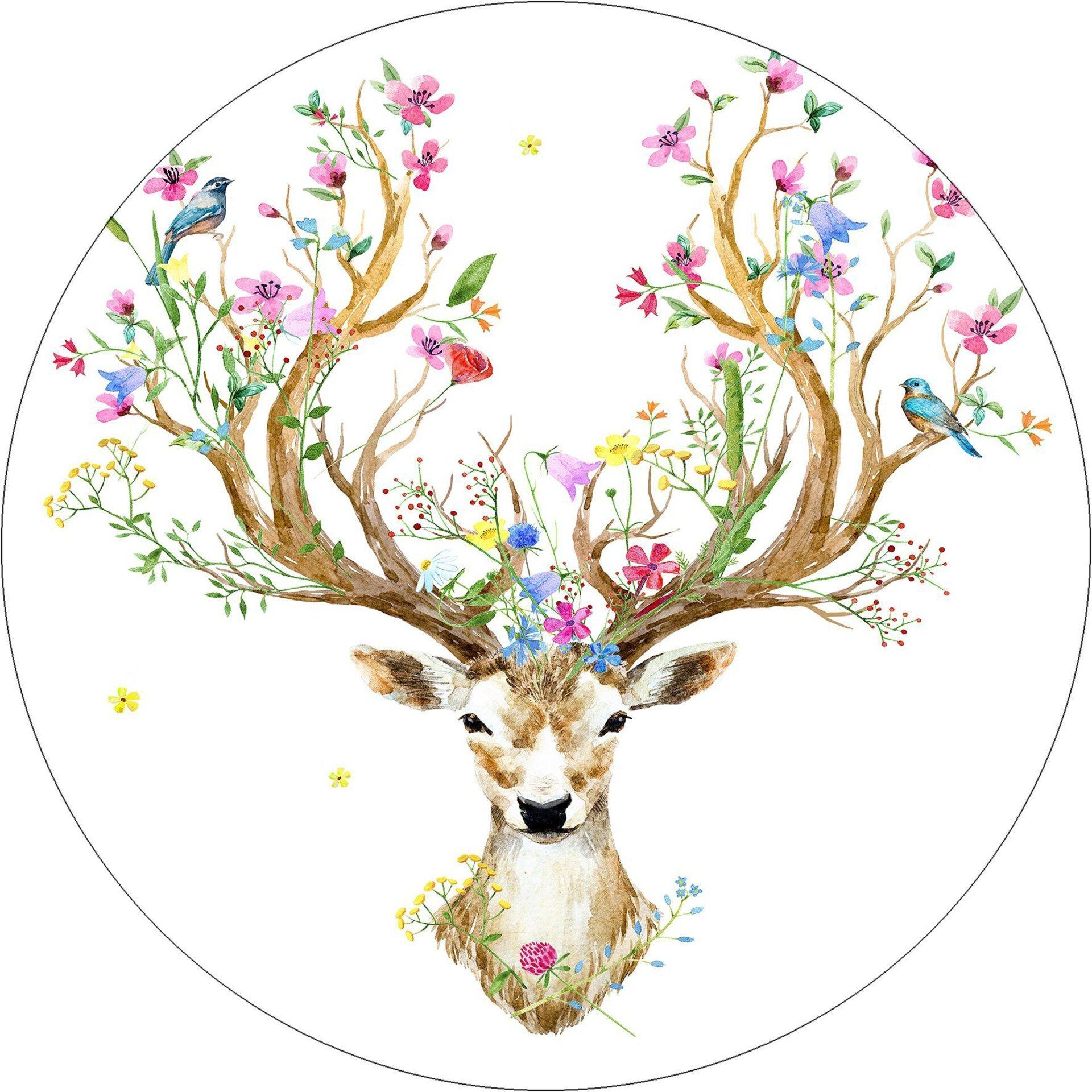 Bild Beautiful Deer Pro-Art Glas 30 x 30 x 1 cm