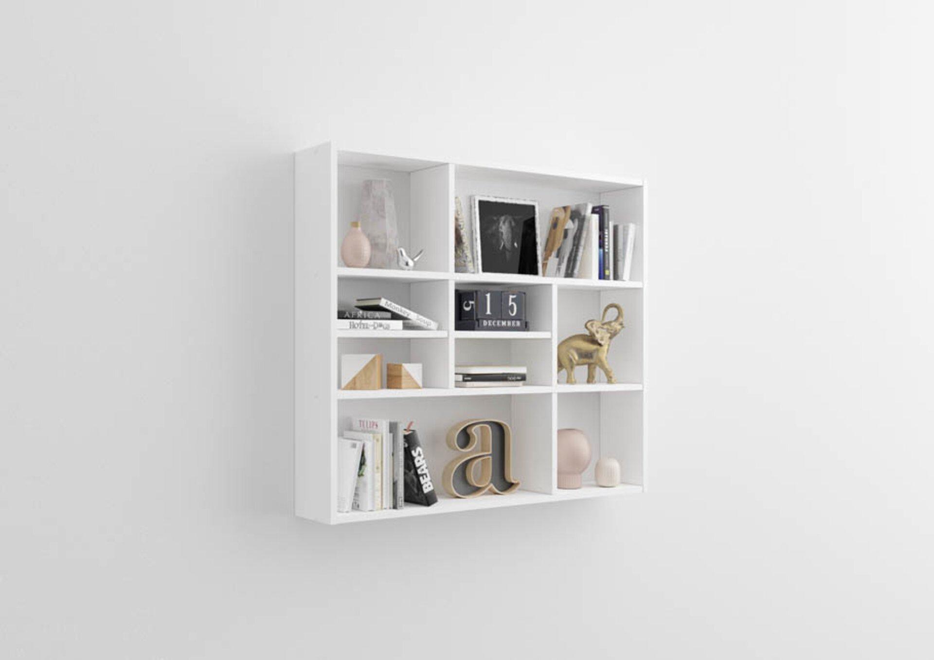 Regal inbuy Holzwerkstoff weiß 16 x 79 x 90 cm