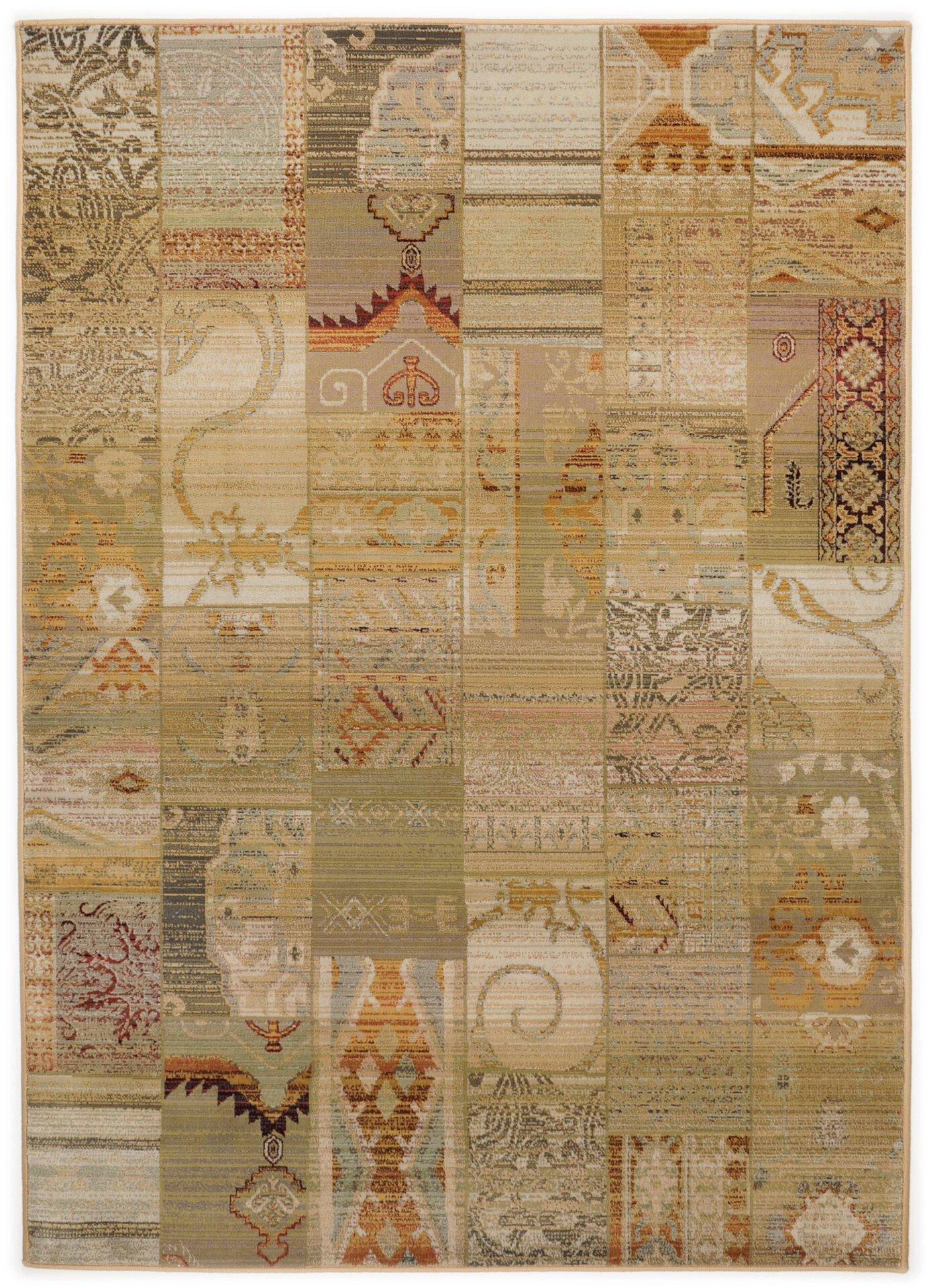 Maschinenwebteppich Gabiro Theko Textil braun 68 x 135 cm