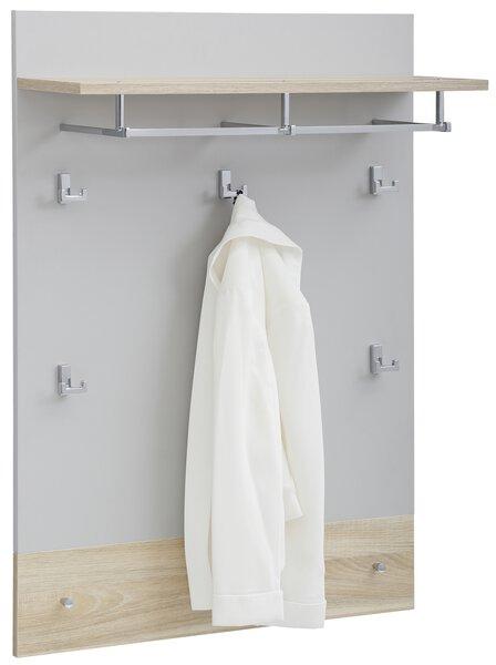 Garderobenpaneel Vito Holzwerkstoff Eiche natur ca. 25 cm x 107 cm x 79 cm