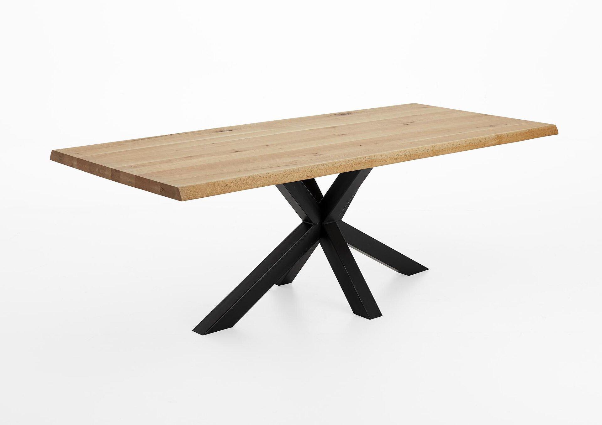 Tisch mit fester Platte PALLIA VALMONDO Metall braun 100 x 77 x 240 cm