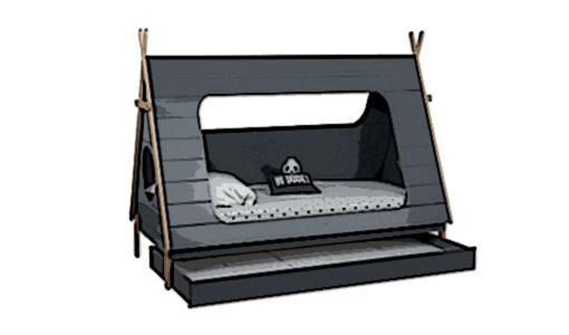 Kinderbett in Zeltform mit Bettkasten als Icon für alle Kinderbetten.