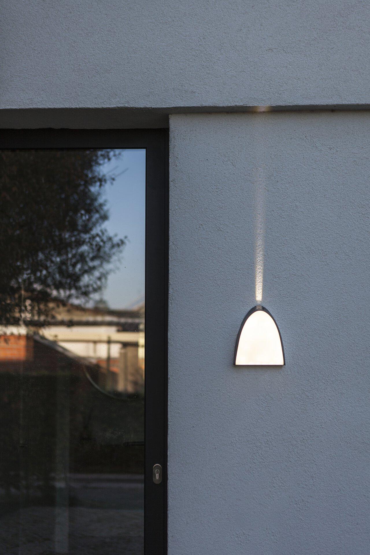 Wand-Aussenleuchte Apollo Eco-Light Metall 18 x 21 x 6 cm