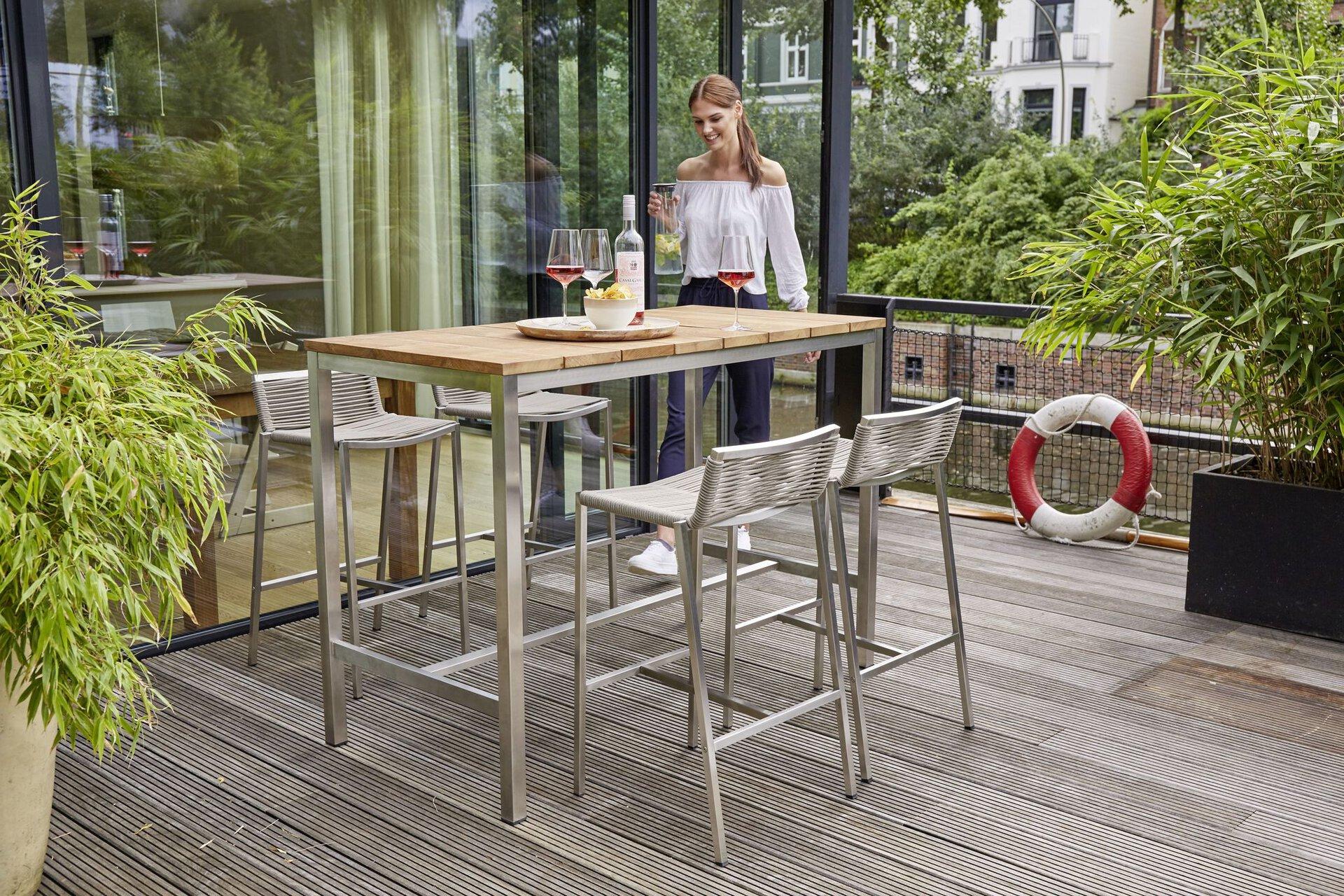 Barhocker U2372C-Bar Outdoor Metall braun 41 x 85 x 45 cm