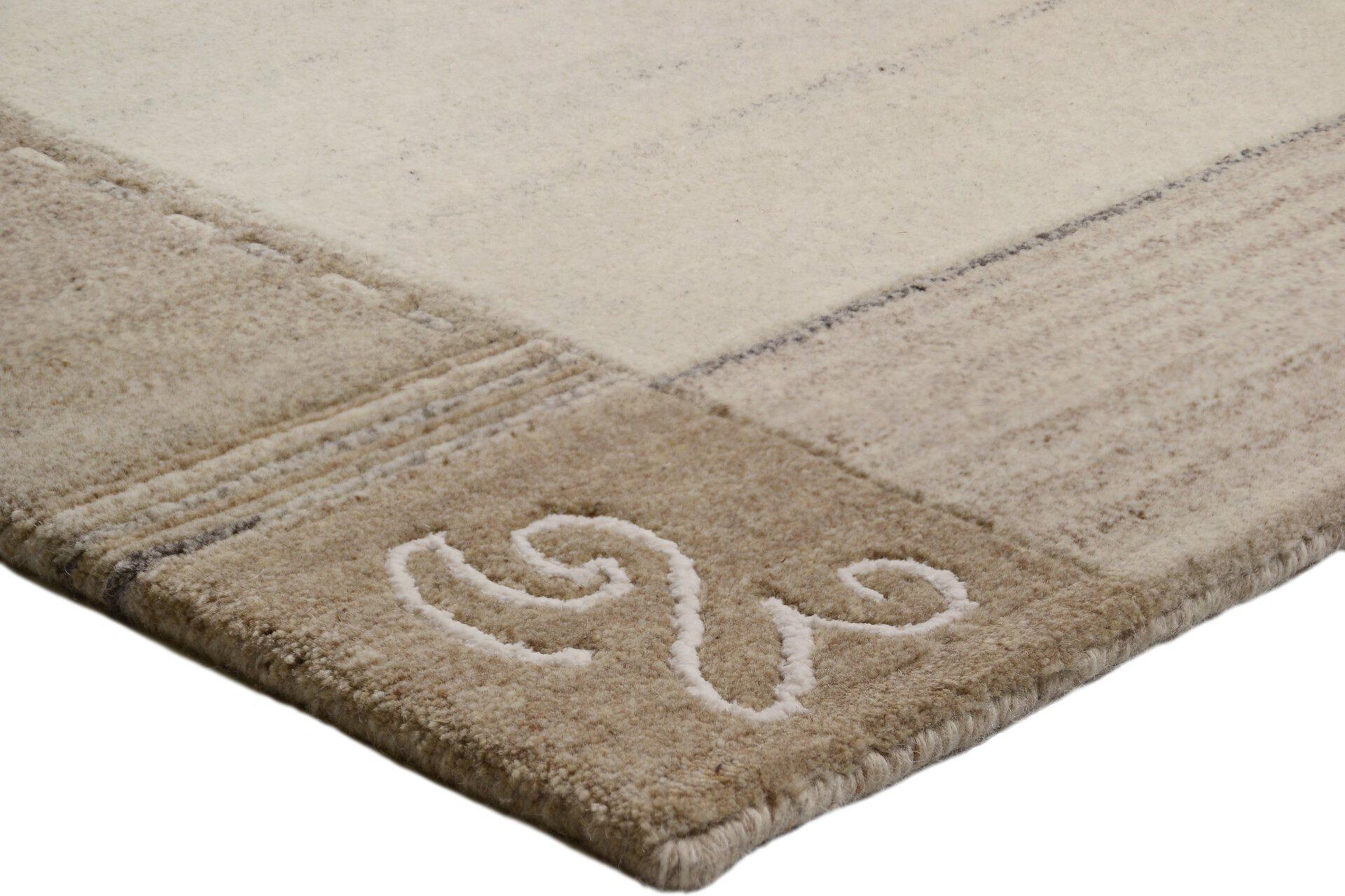 Handknüpfteppich Natpur Theko Textil grau 1 x 2 cm