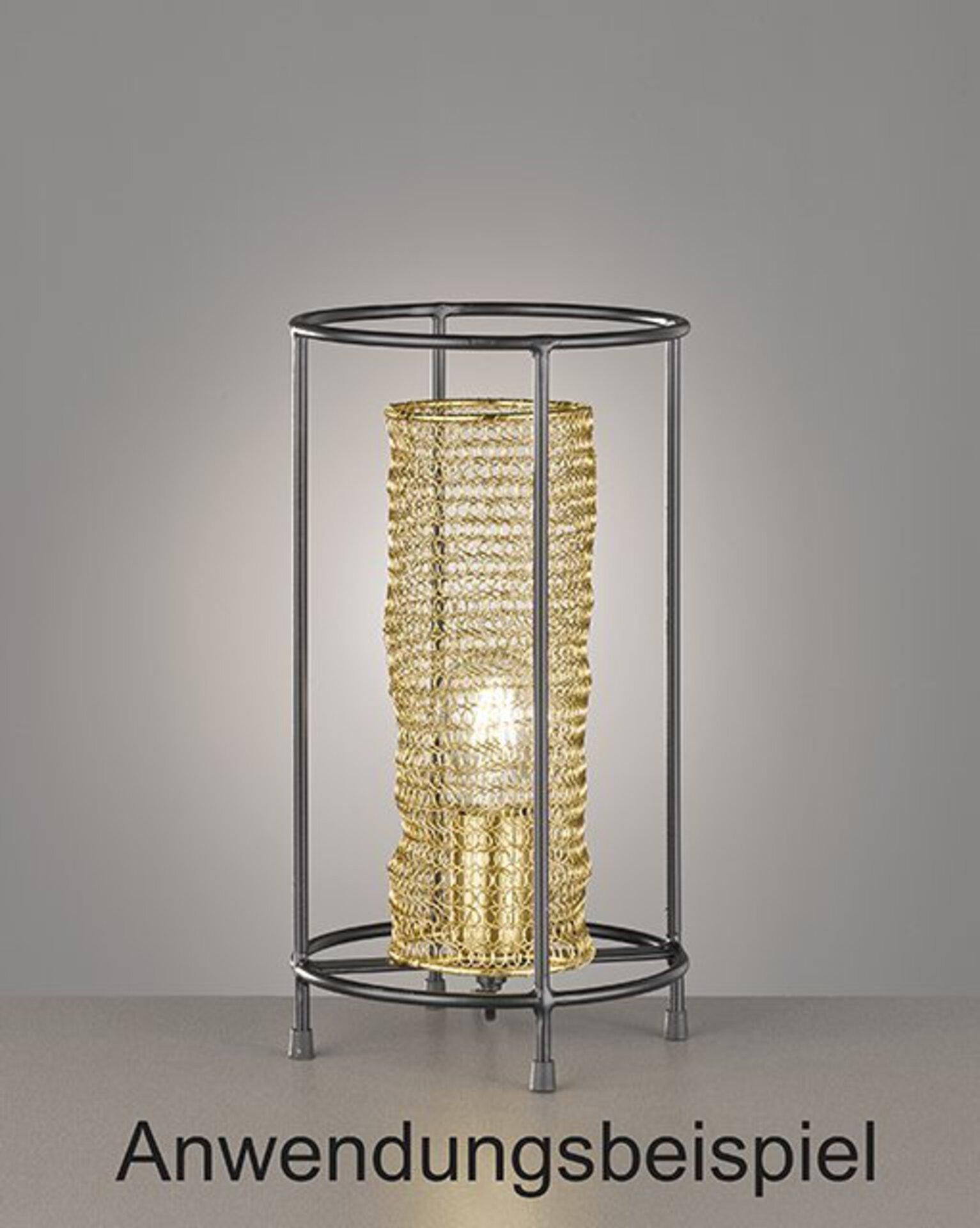 Tischleuchte ANO Fischer-Honsel Metall gold 20 x 36 x 20 cm