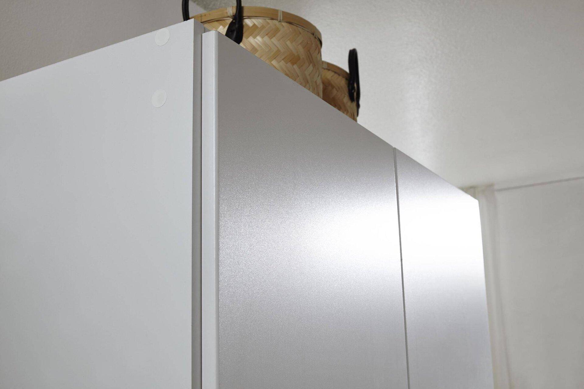 Drehtürenschrank FREISING rauch BLUE Holzwerkstoff 54 x 197 x 91 cm