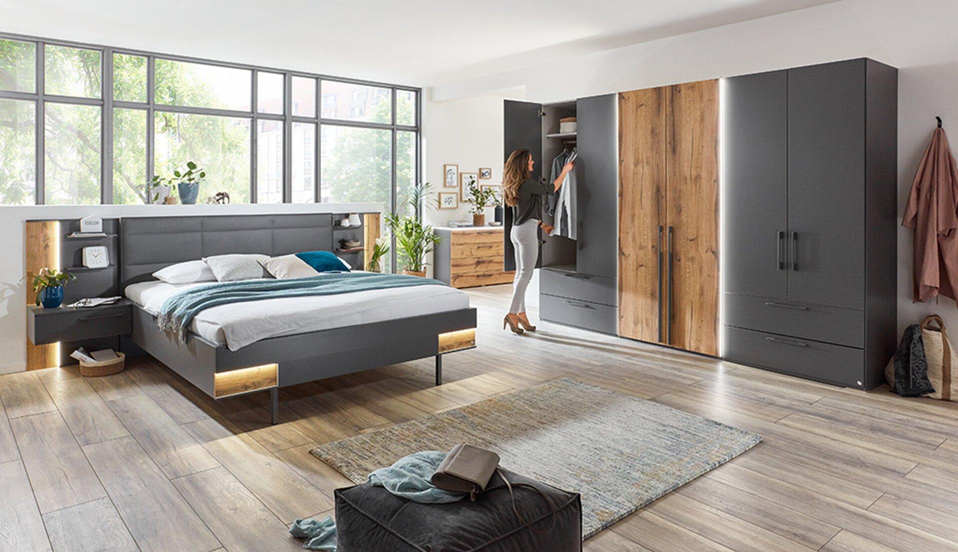 Schlafzimmer VIDANO MONDO Holzwerkstoff 216 x 112 x 187 cm