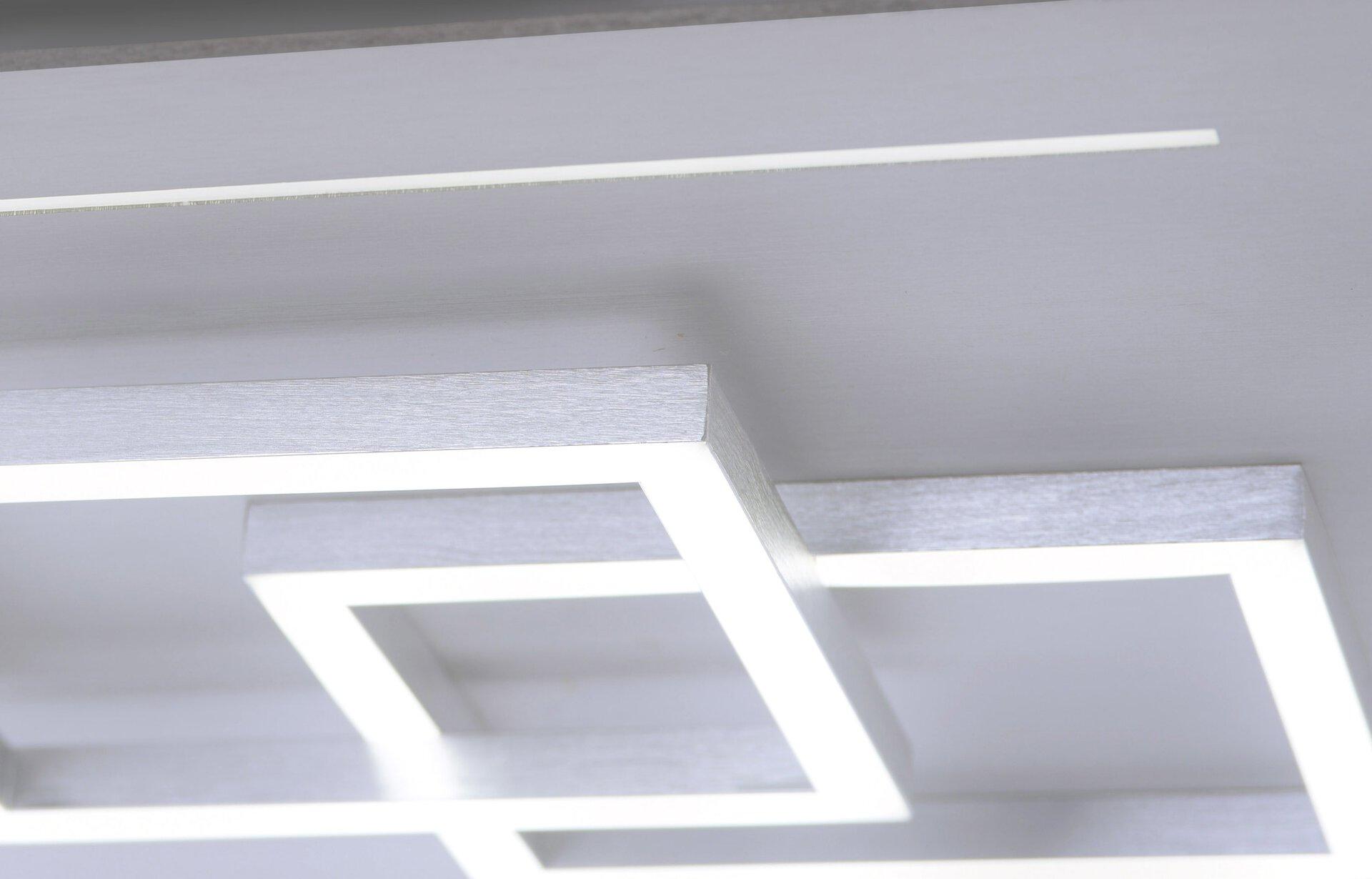 Smart-Home-Leuchten Q-LINEA Paul Neuhaus Metall silber 40 x 7 x 40 cm