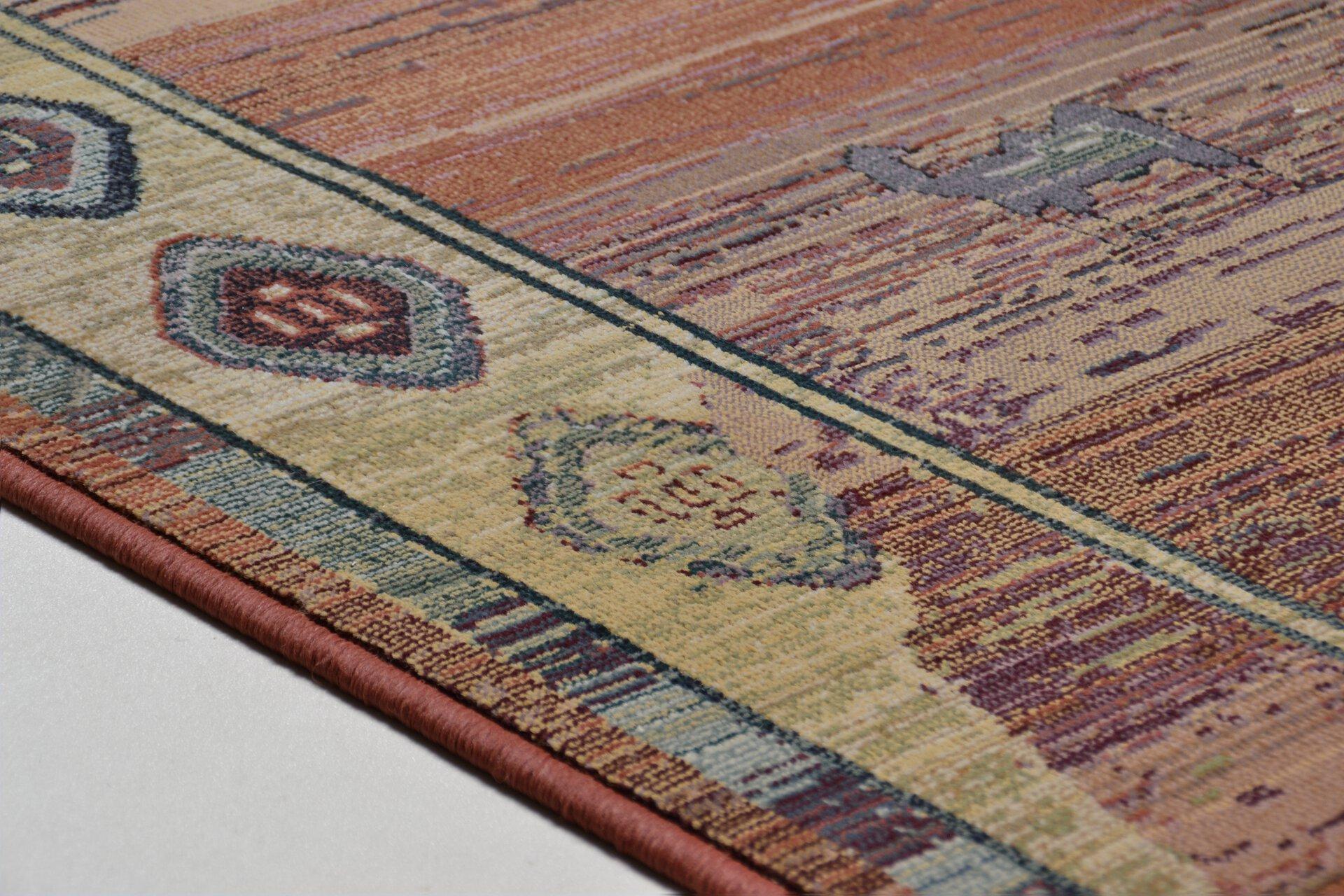 Maschinenwebteppich Gabiro Theko Textil orange 80 x 300 cm