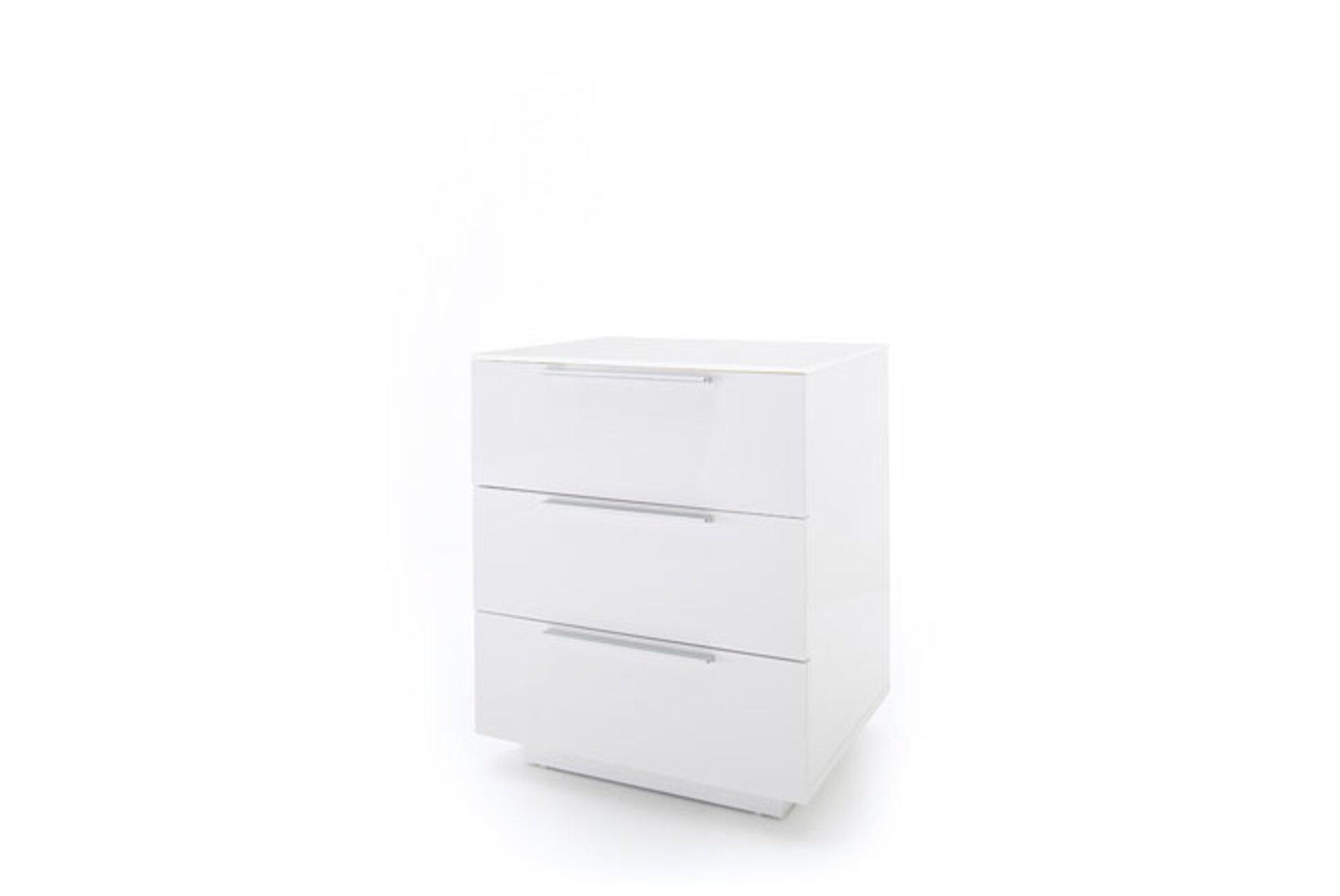 Nachttisch NOLA MCA furniture Holzwerkstoff weiß 40 x 60 x 50 cm