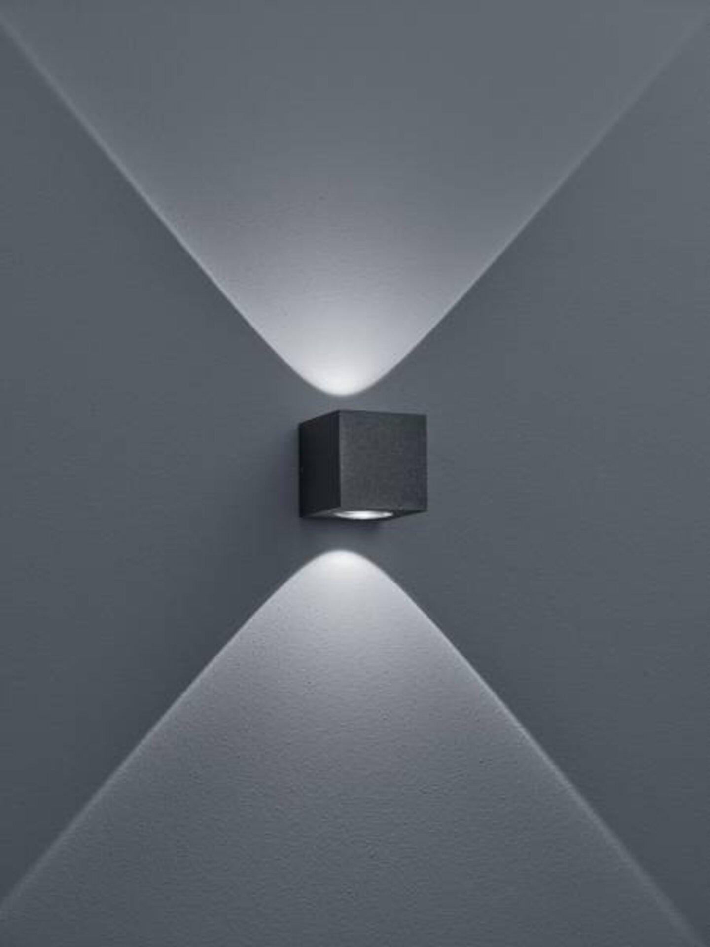 Wand-Aussenleuchte PEKA Helestra Leuchten Metall grau 8 x 8 x 8 cm