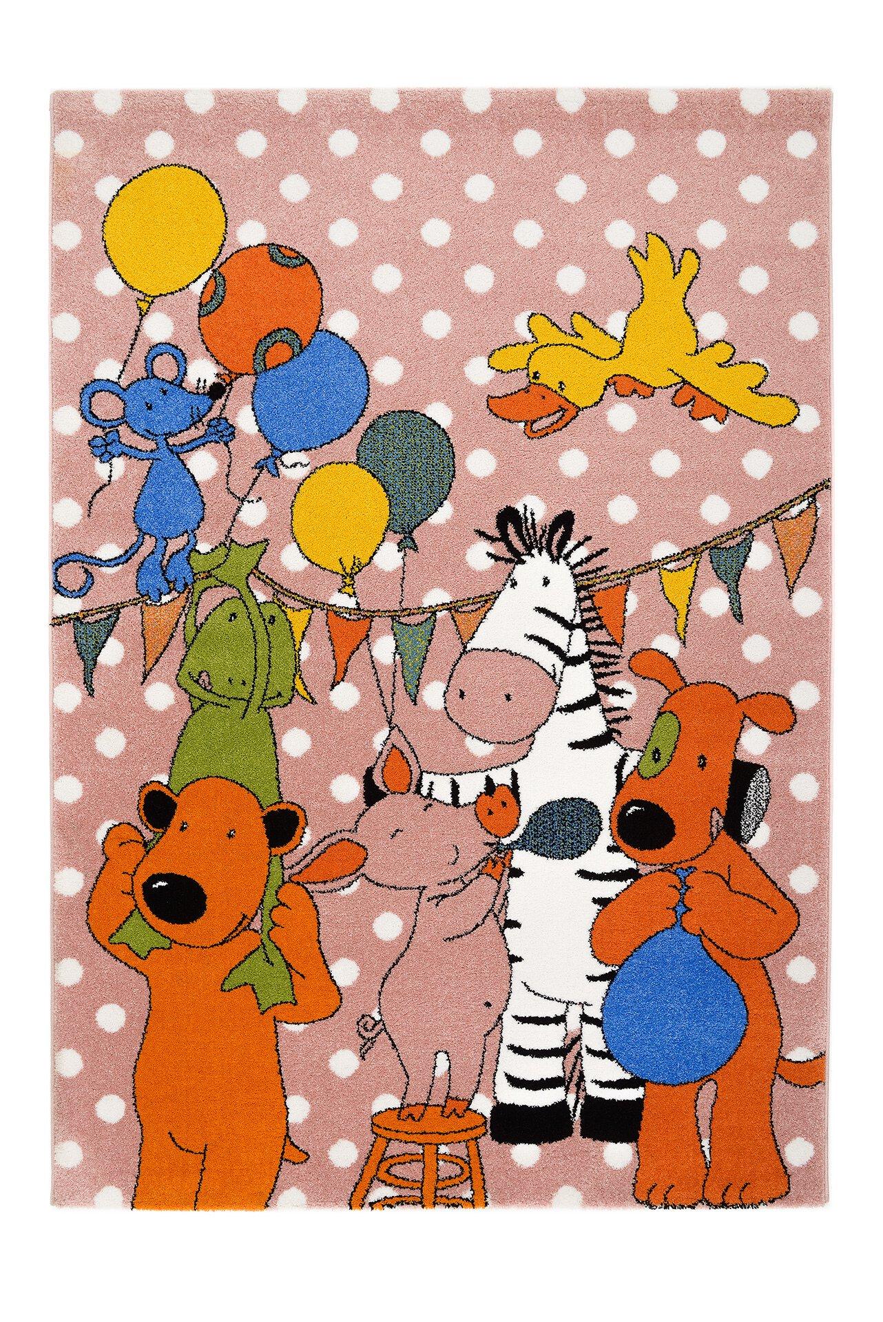 Kinderteppich Die Lieben Sieben Frise Böing Textil rosa 120 x 170 cm