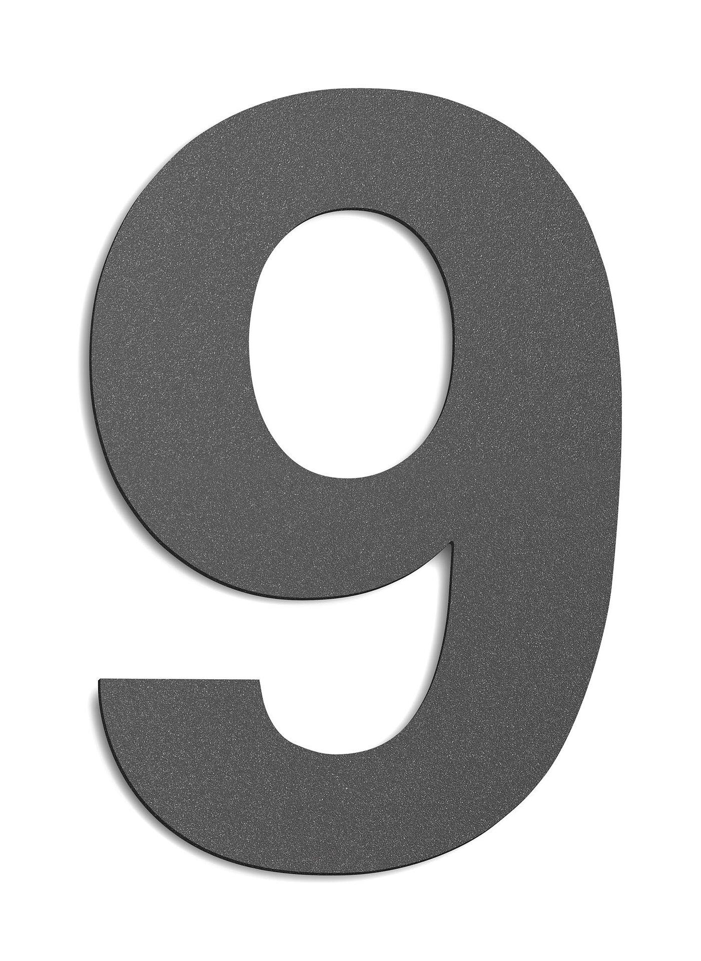 Hausnummer CMD Metall grau 14 x 25 x