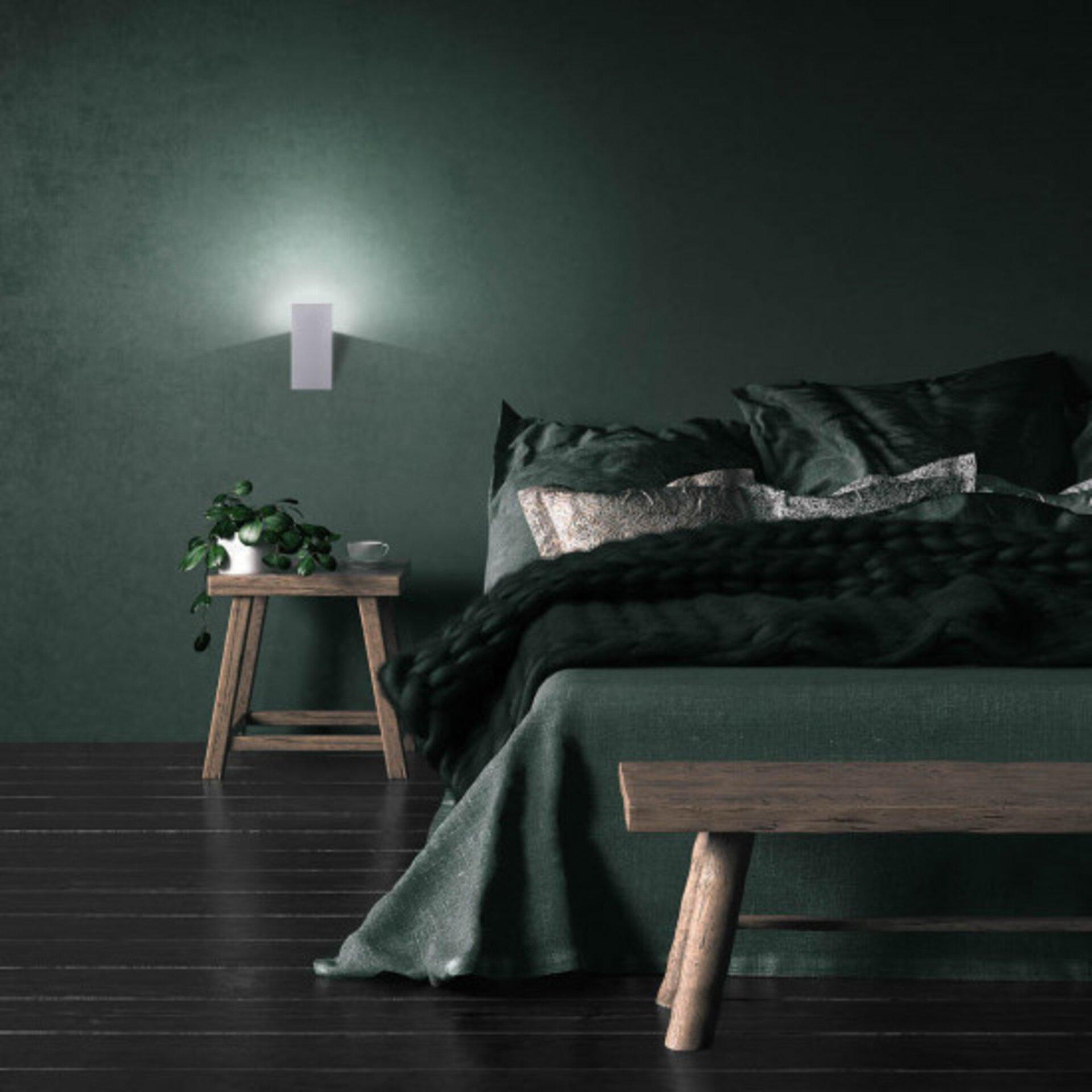 Smart-Home-Leuchten Q-WEDGE Paul Neuhaus Metall silber 19 x 9 x 8 cm