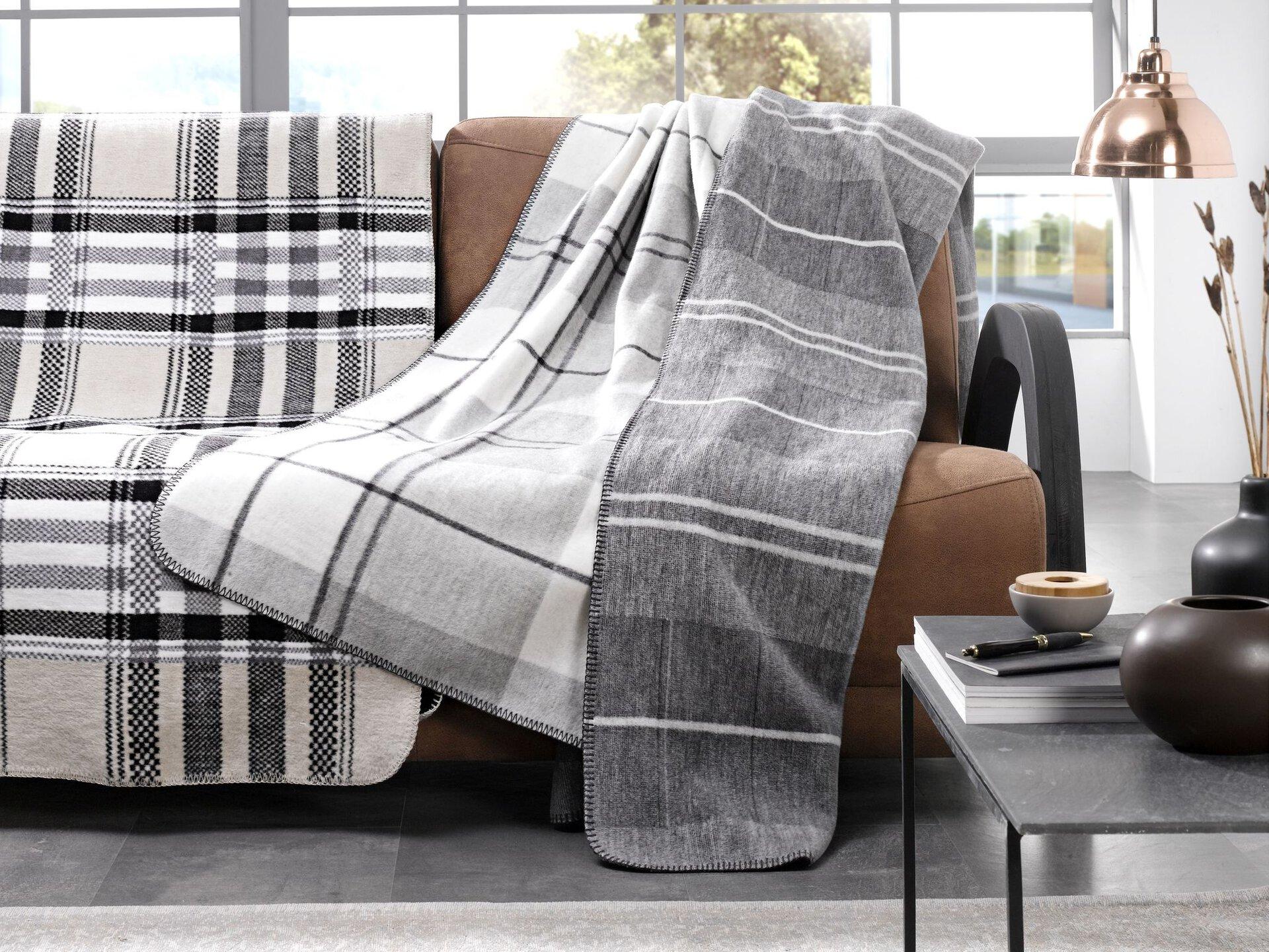 Wohndecke Dublin Casa Nova Textil grau 150 x 200 cm