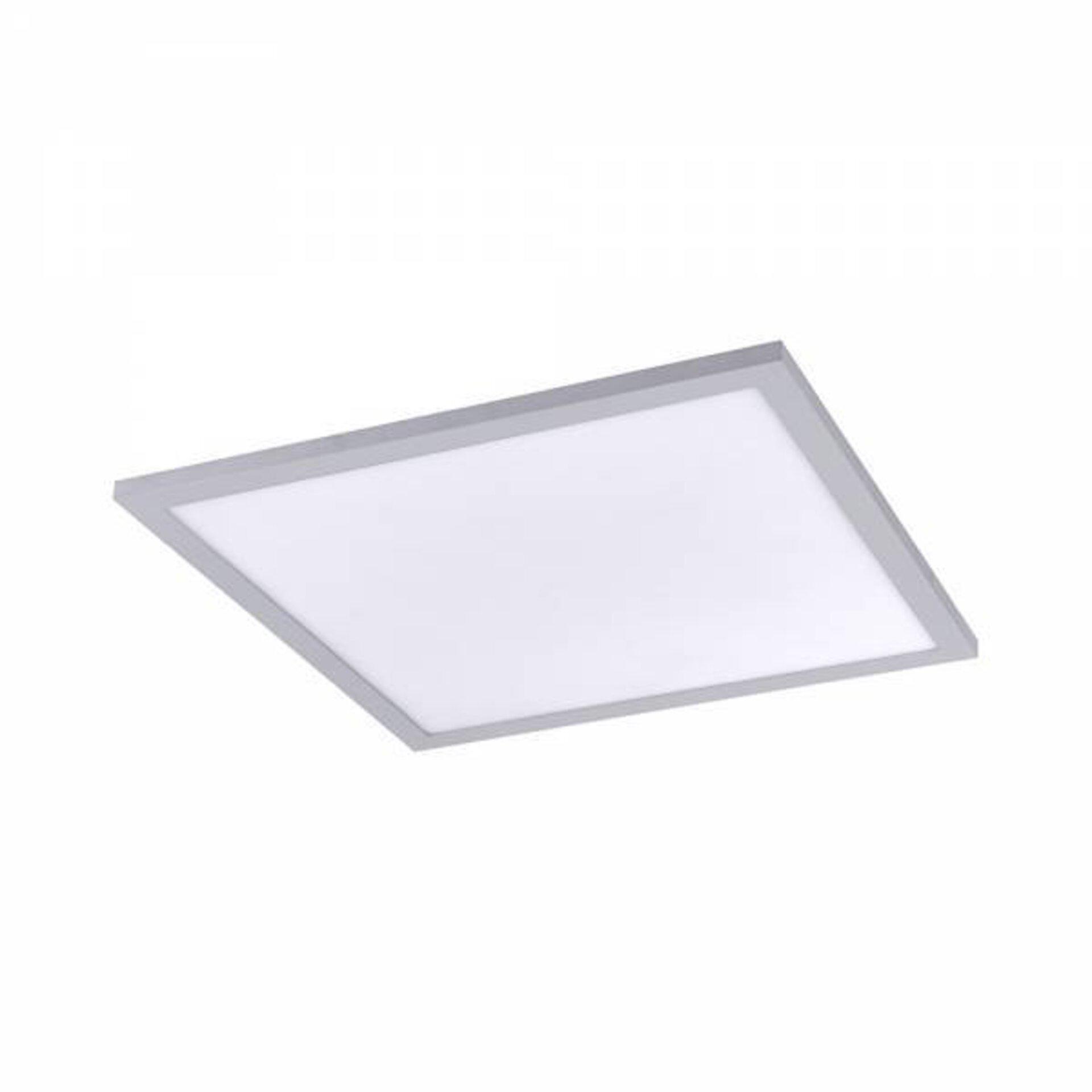 Deckenleuchte FLAT Leuchtendirekt Metall silber 45 x 6 x 45 cm
