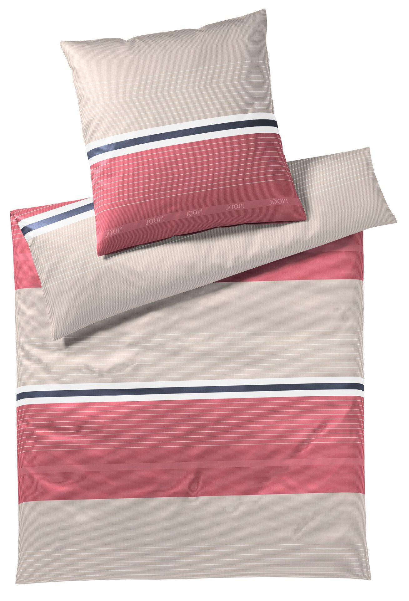 Satin-Bettwäsche Fit Joop! Textil rot 135 x 200 cm