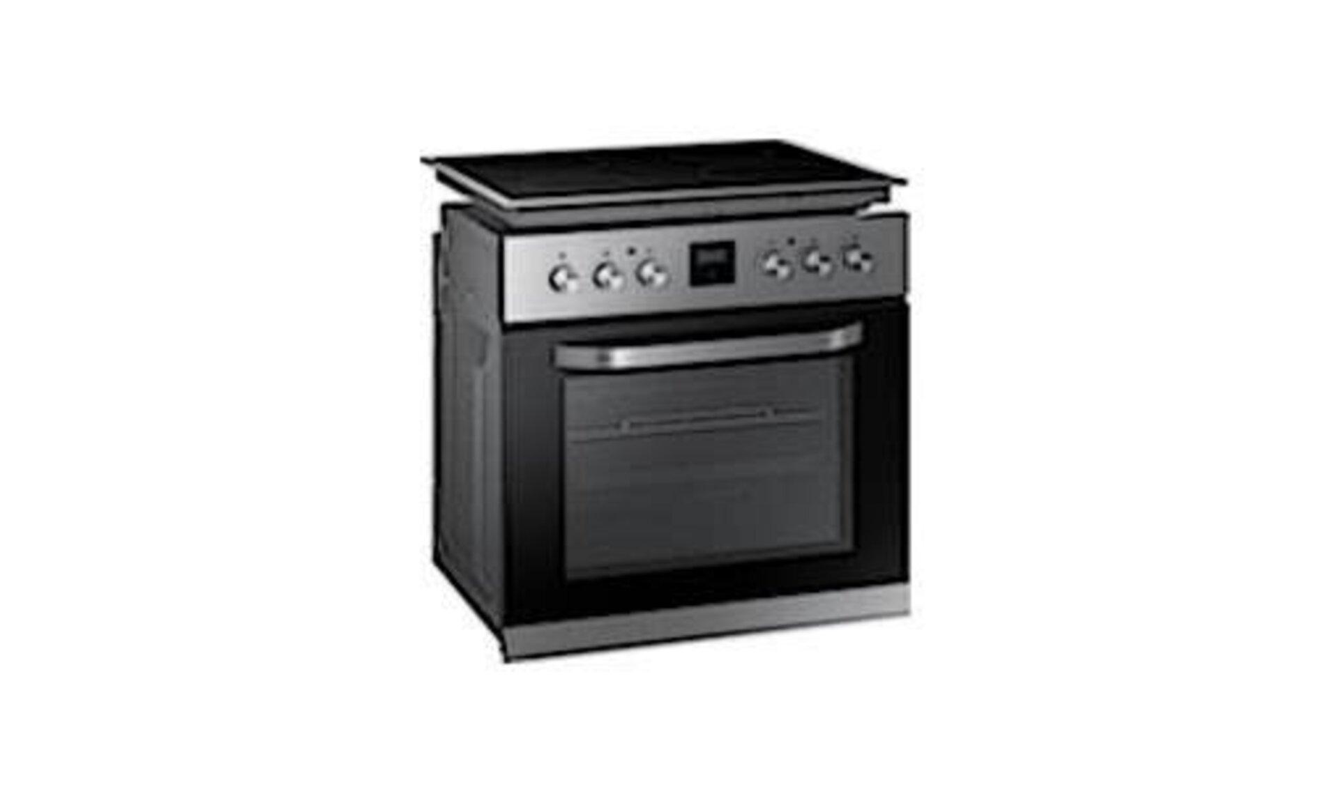 Ein Backofen mit separatem Cerankochfeld steht Sinnbildlich für alle Einbaugeräte, die in eine moderne Küche gehören.