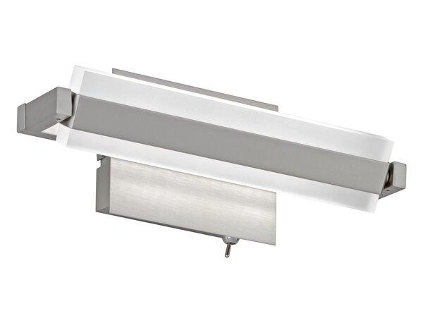 Wandleuchte Fischer-Honsel  Metall nickel ca. 9 cm x 13 cm x 25 cm