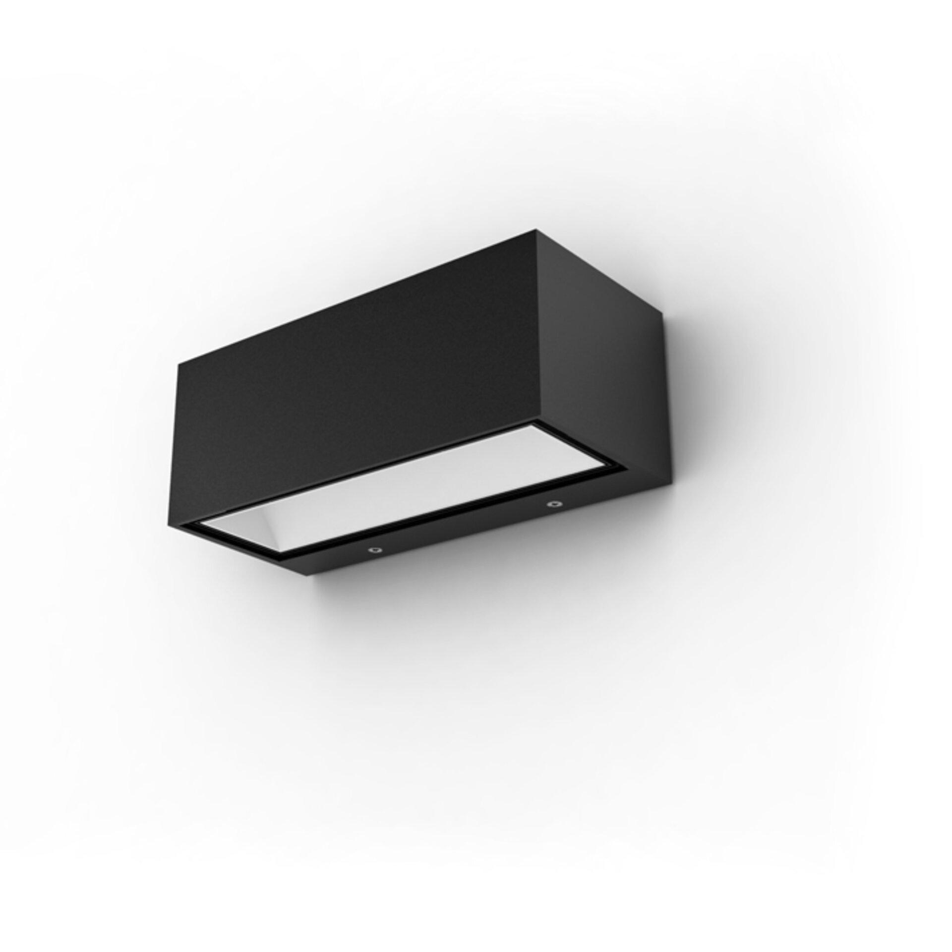 Wand-Aussenleuchte Gemini Eco-Light Metall grau 22 x 9 x 10 cm