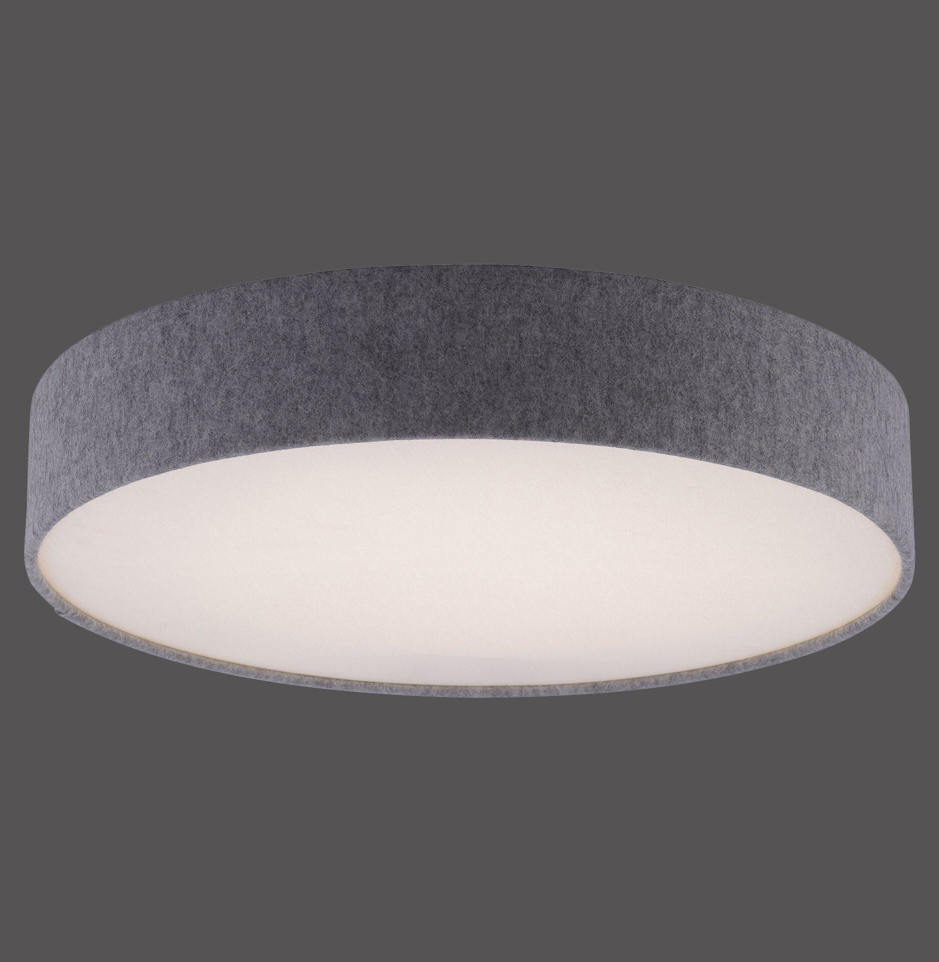 Smart-Home-Leuchten Q-KIARA Paul Neuhaus Metall grau 58 x 11 x 58 cm