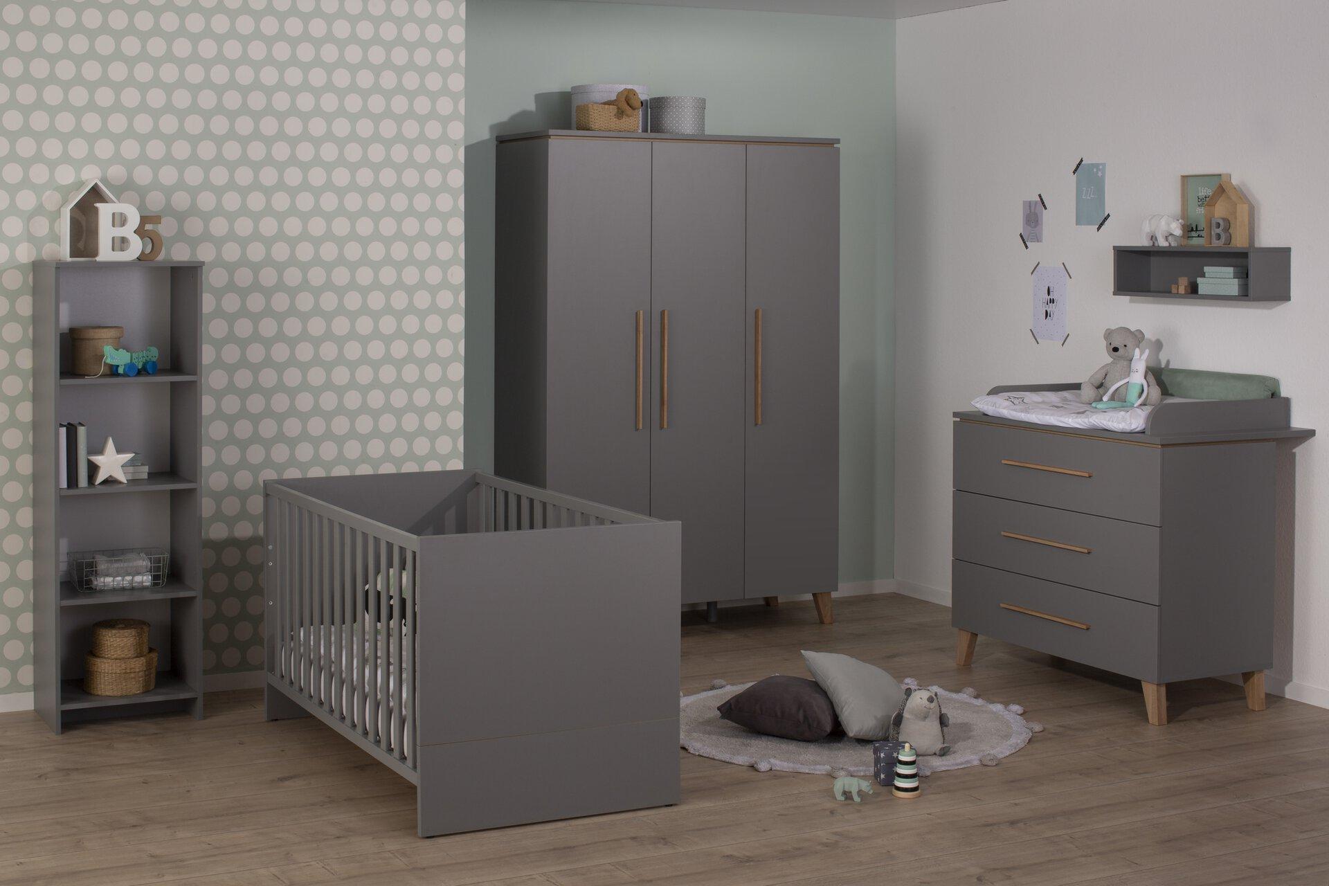 Kinderschrank MIRA Vito Holzwerkstoff grau