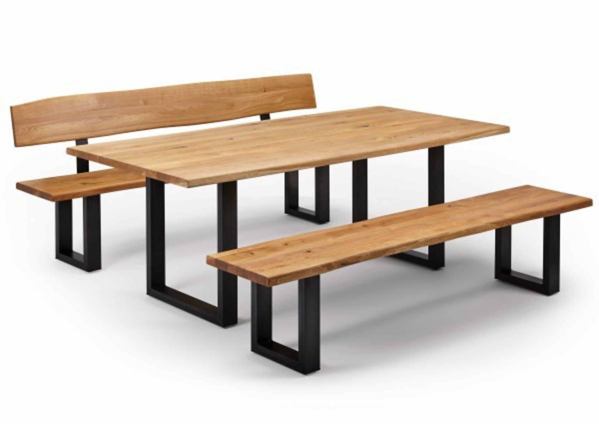 Tisch mit fester Platte ZINGST Dinett Metall 100 x 1 x 180 cm