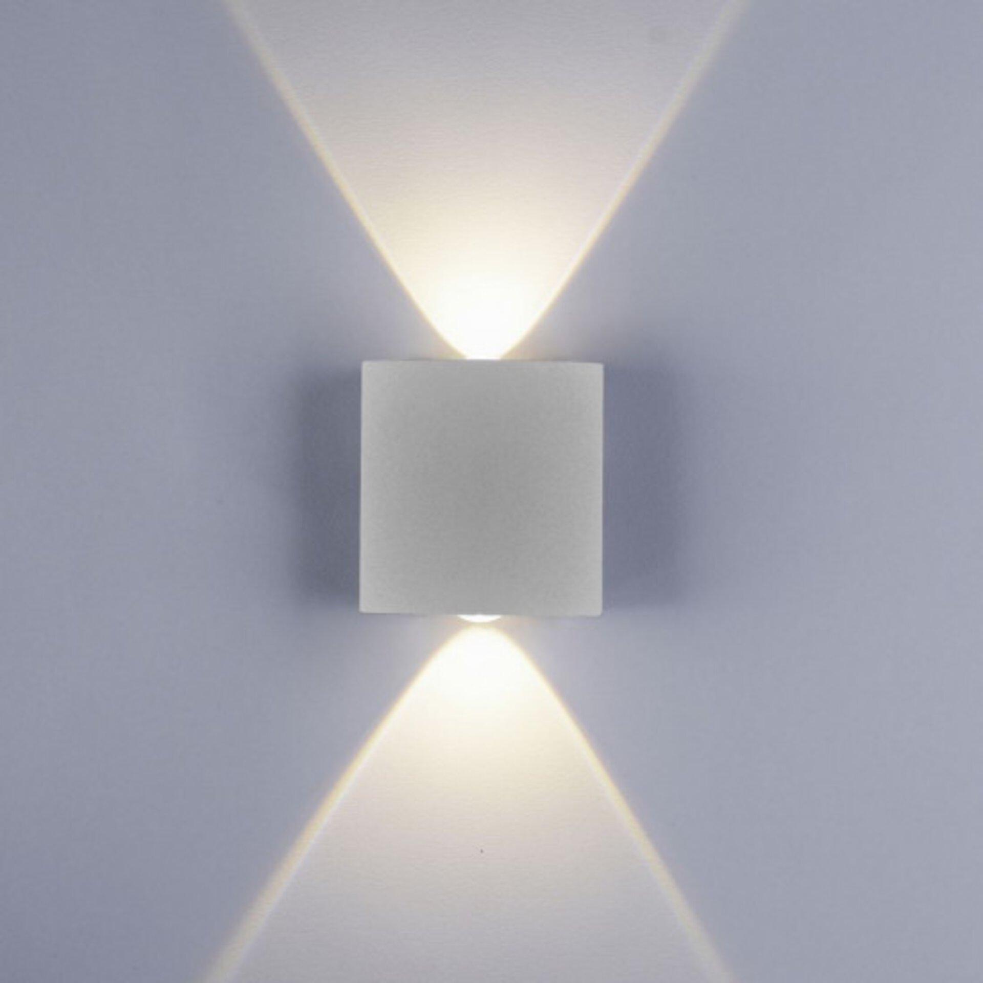 Wandleuchte CARLO Paul Neuhaus Metall silber 3 x 8 x 8 cm