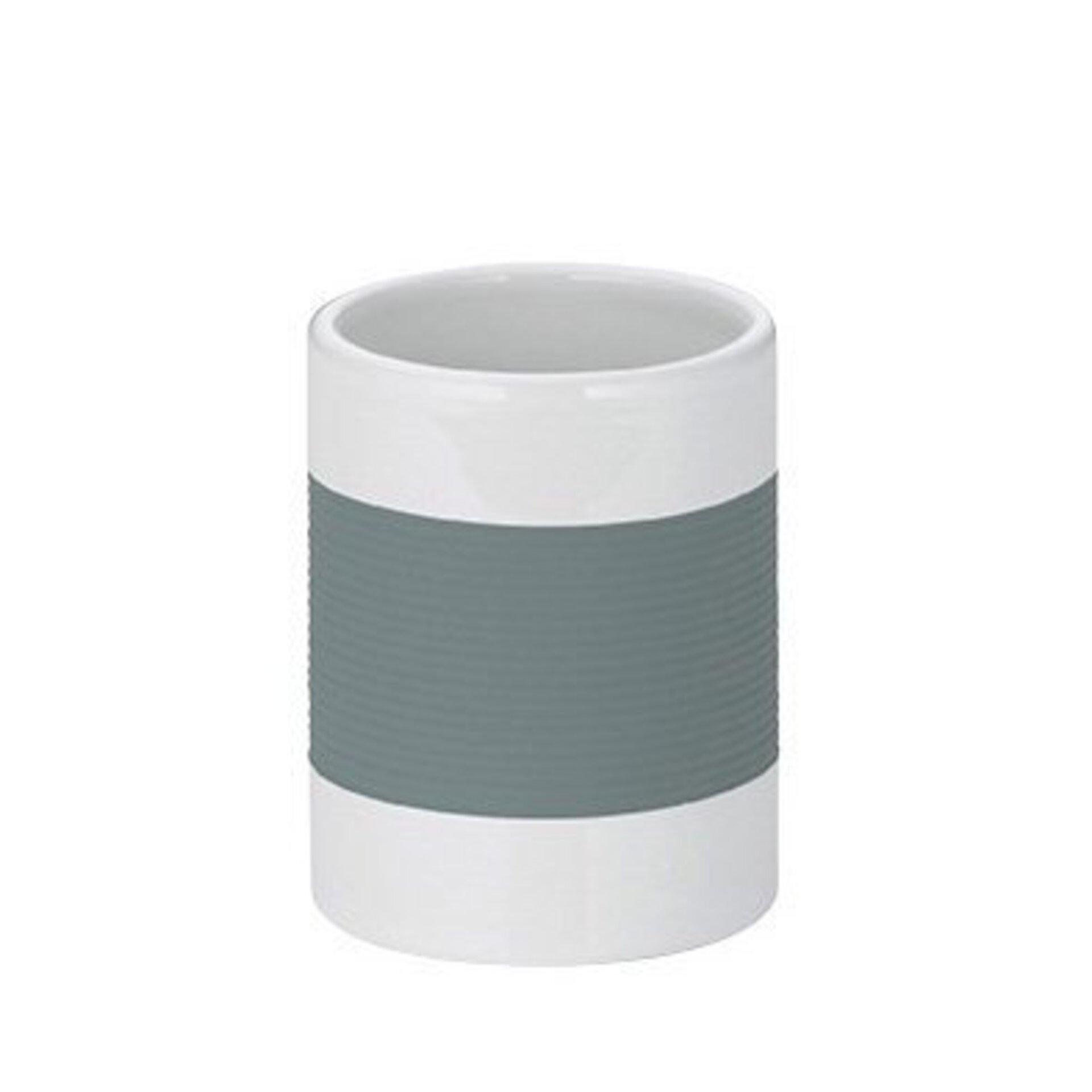 Zahnputzbecher Laletta Kela Keramik grau 4 x 10 x 4 cm