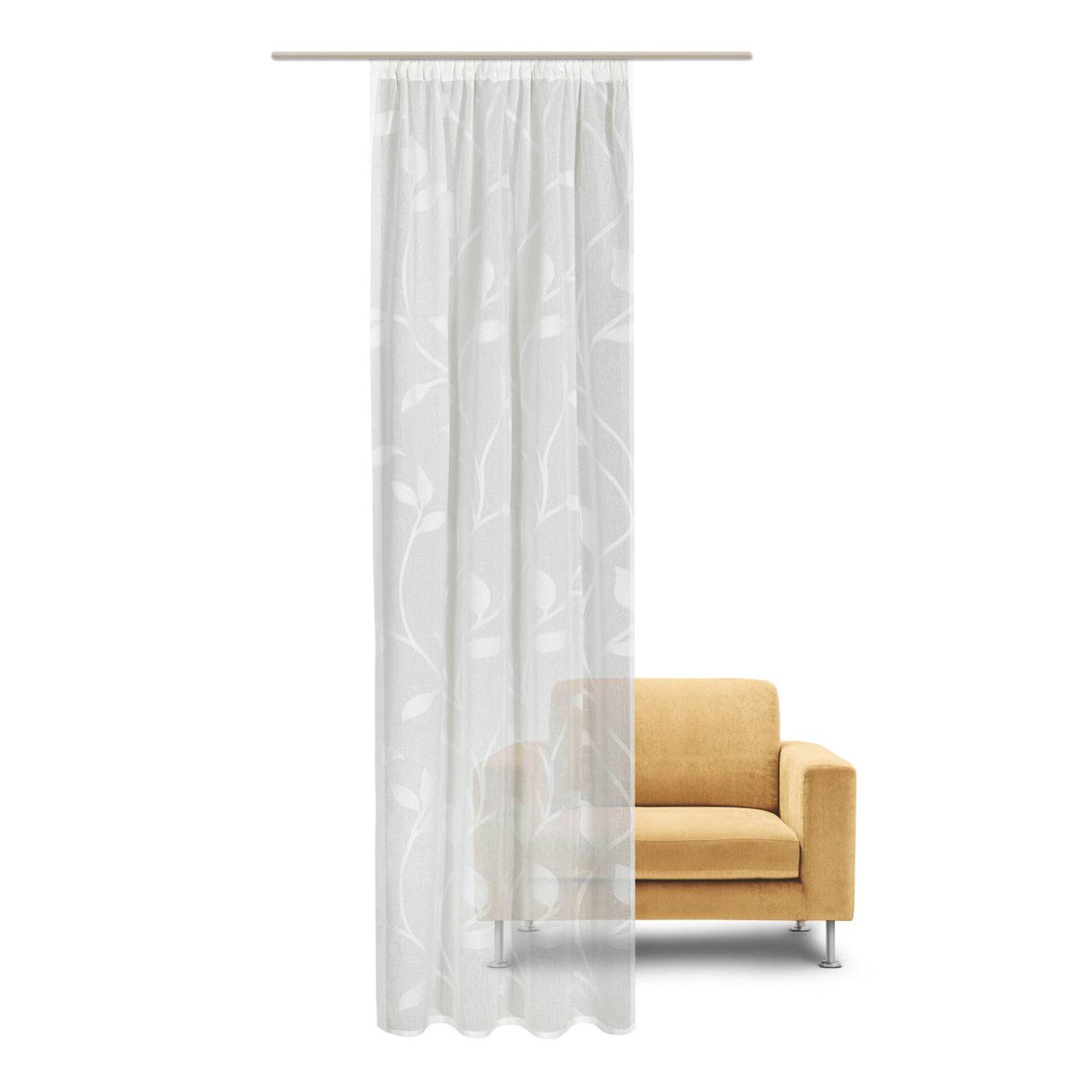Dekoschal Blattranke Gerster Collection Textil 140 x 245 cm