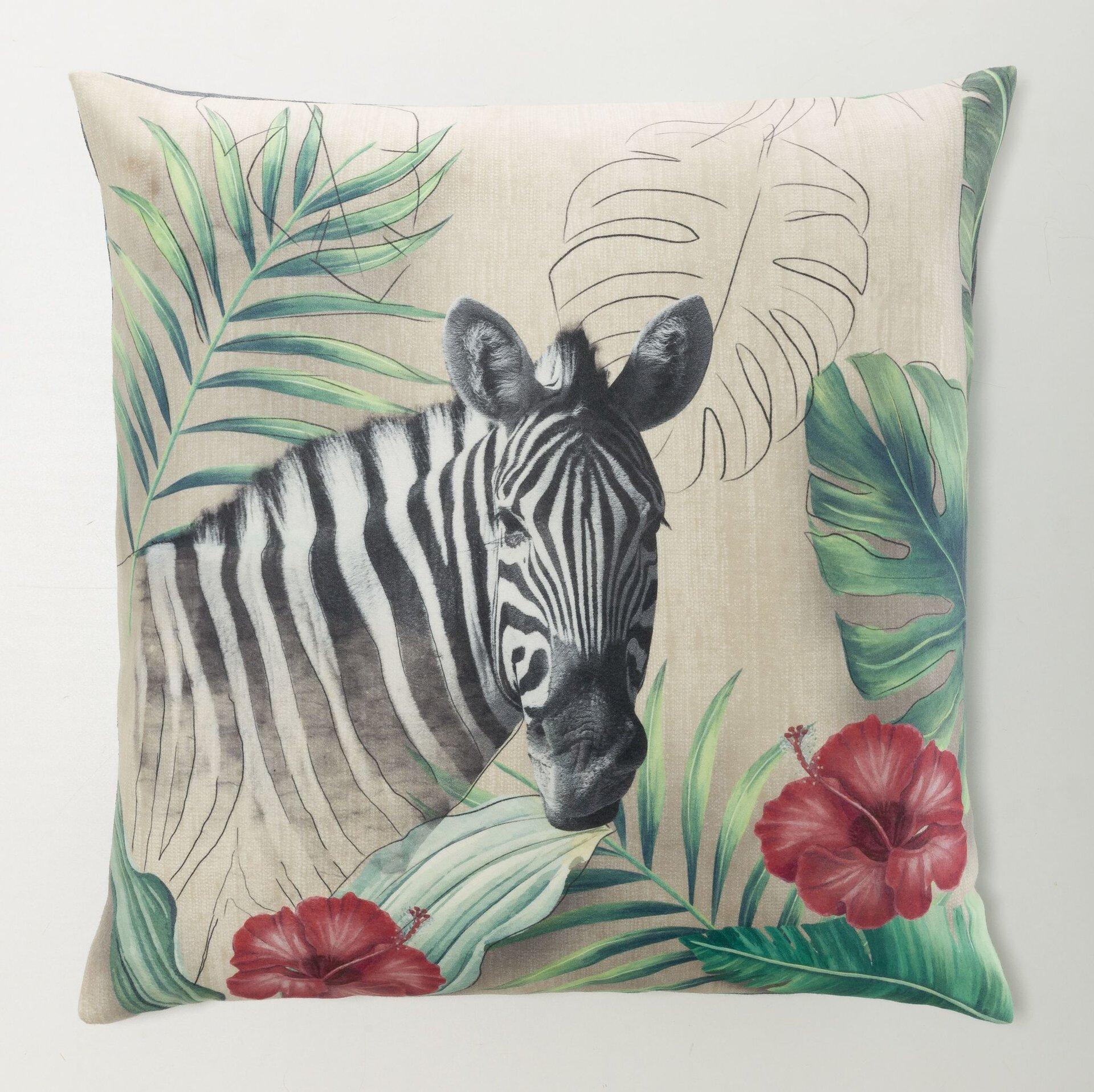 Dekokissen Safari Zebra Casa Nova Textil mehrfarbig 50 x 50 cm