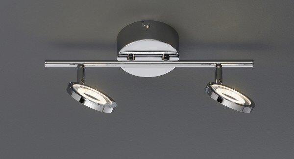 Strahler Casa Nova Metall silber ca. 18 cm x 11 cm x 36 cm